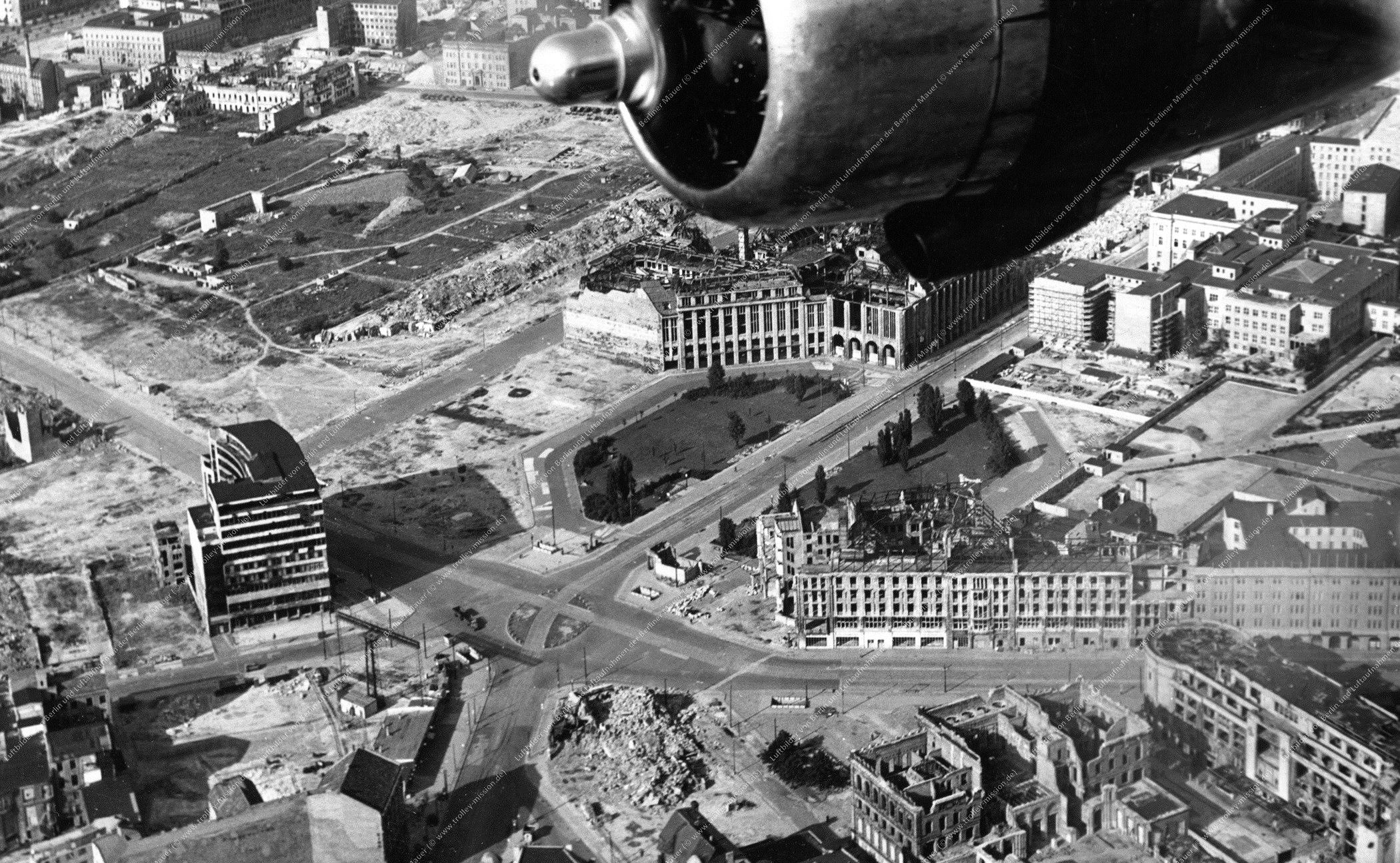 Berlin Luftbild Potsdamer Platz vom 10. April 1959 (Bild 003)