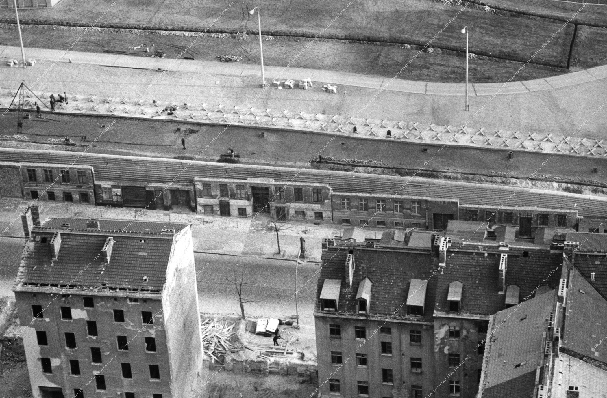 Berlin Luftbild Bernauer Straße vom 6. November 1967 (Bild 045)
