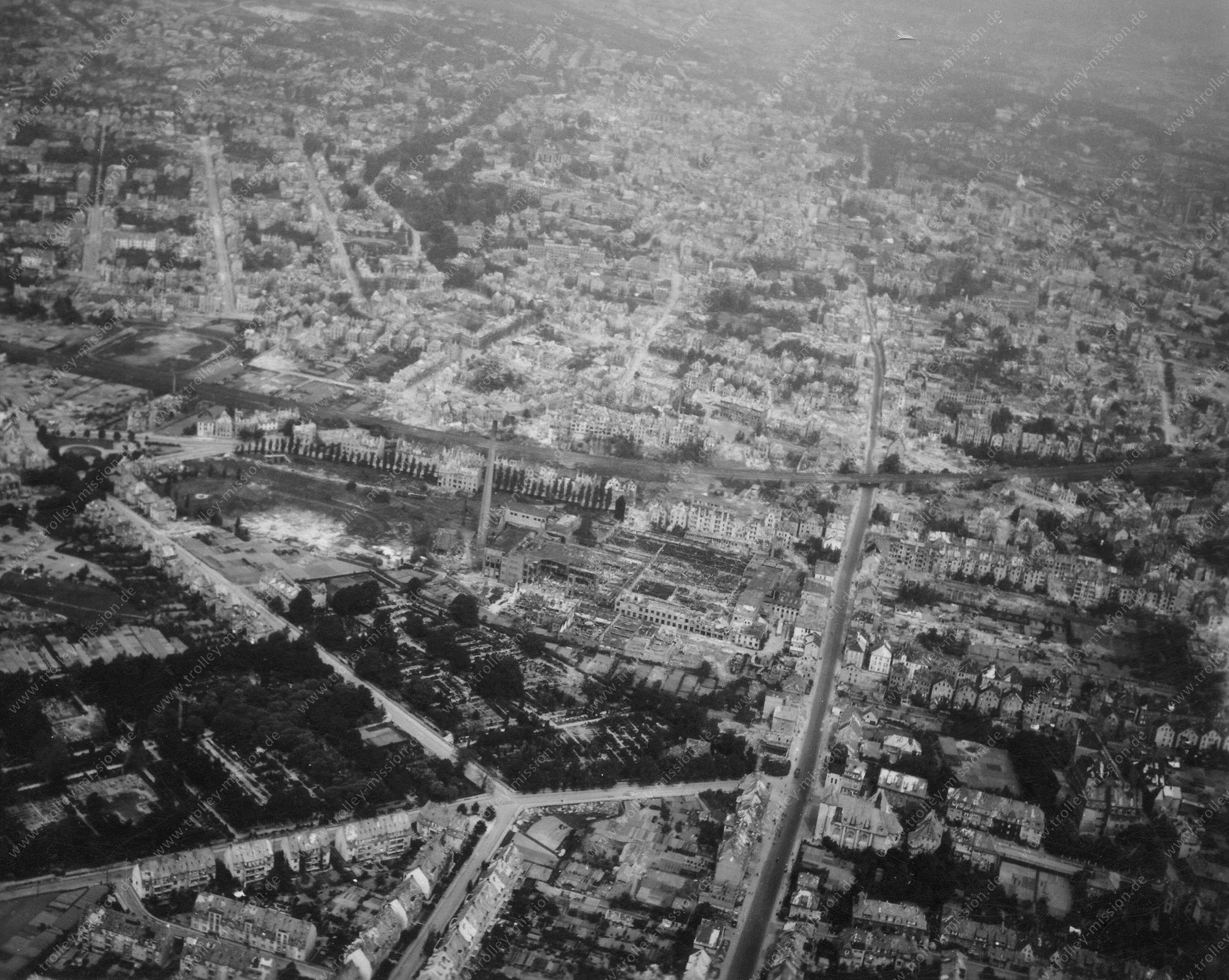 Osnabrück Luftbild im Mai 1945