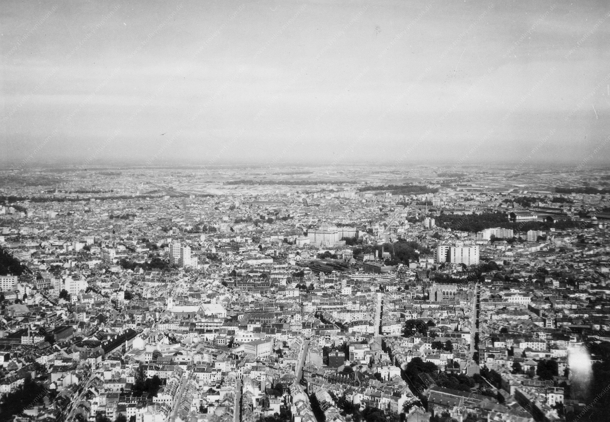 Luftbild aus dem Weltkrieg von Brüssel (Belgien)
