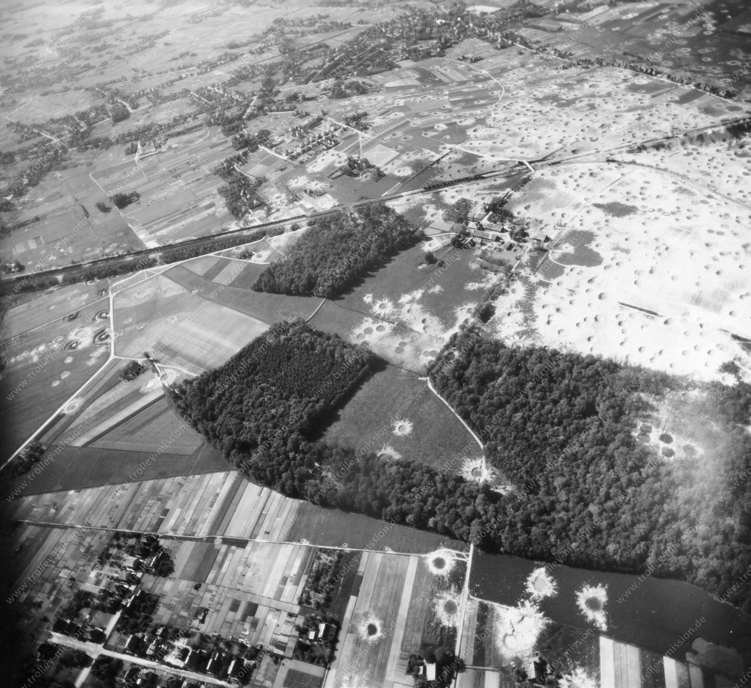 Bielefeld Luftbild der westlichen Seite des Schildescher Viaduktes