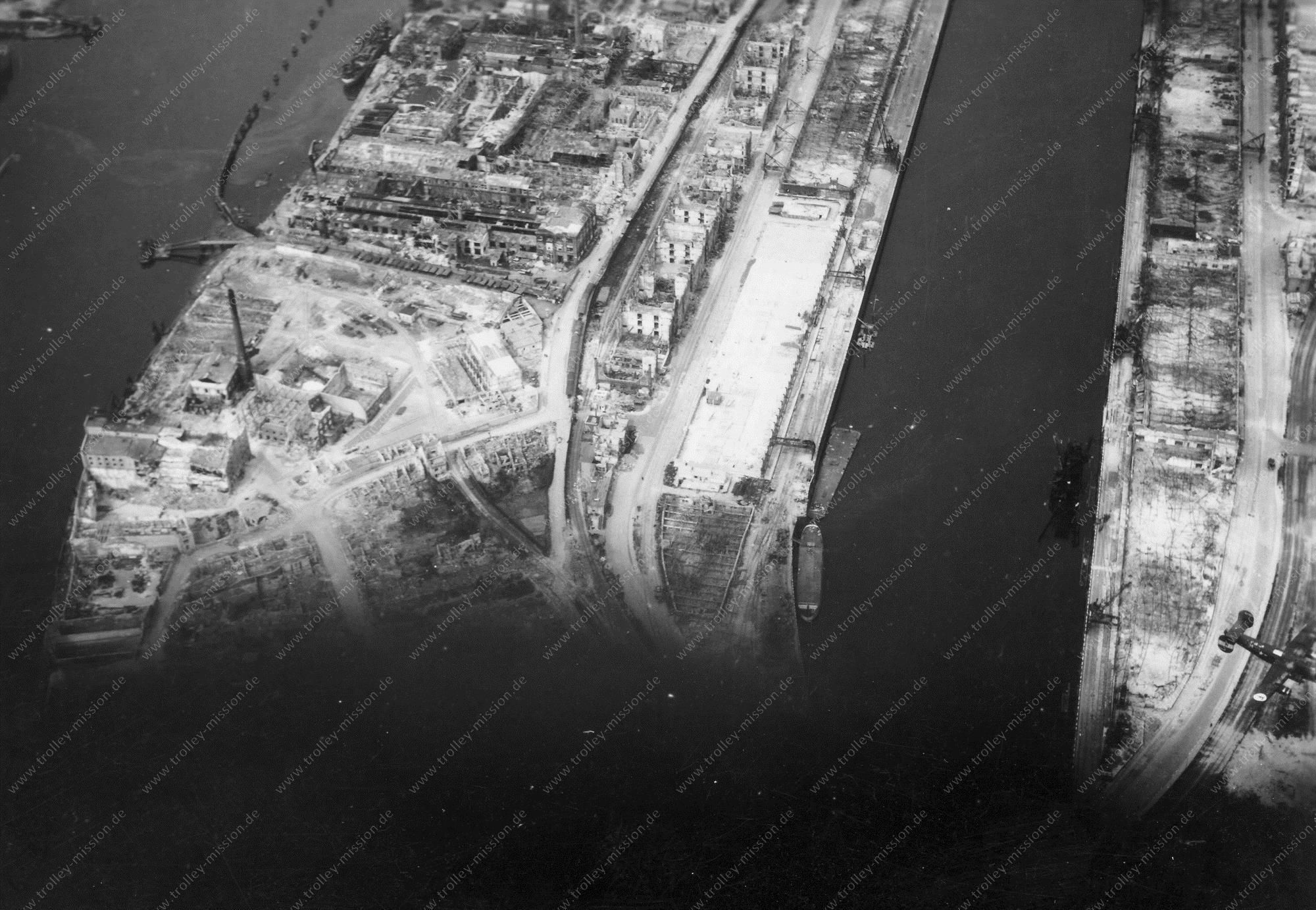 Bremen Luftbild Europahafen und Weser
