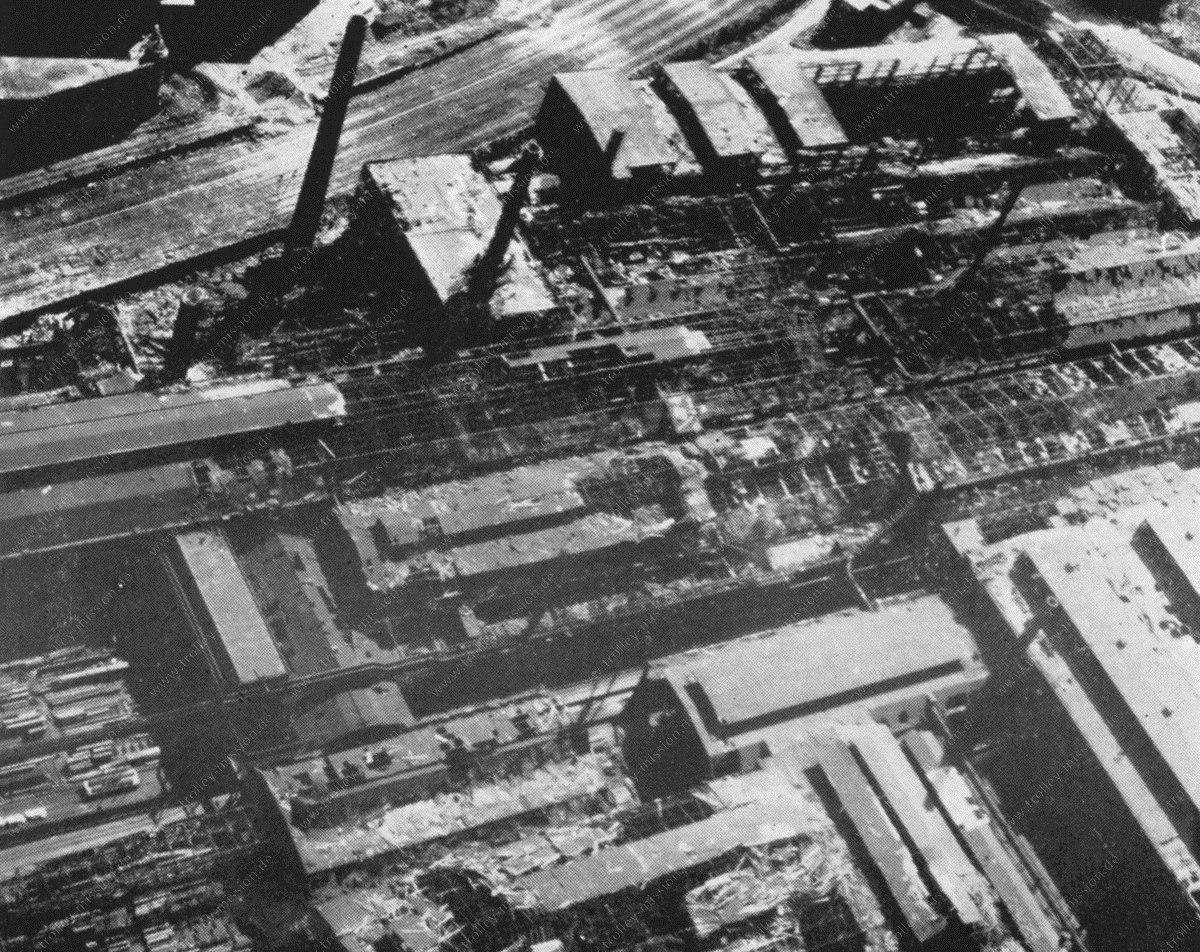 Dortmund Westfalenhütte - Thyssen Krupp Werke im Mai 1945