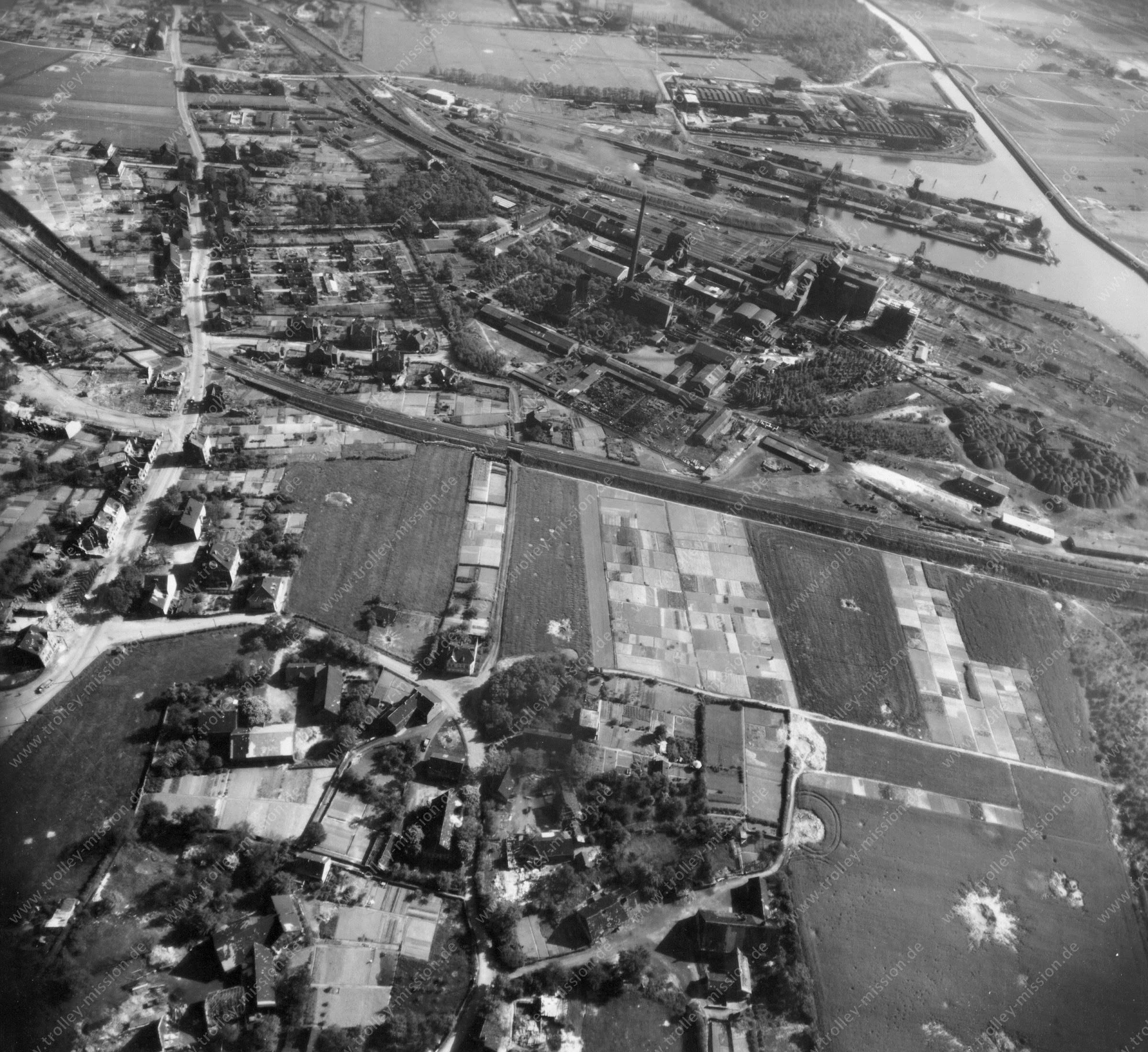 Dortmund Luftbild Hafen bzw. Hardenberghafen