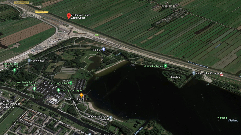 Luftaufnahme von Zoeterwoude: Bungalowpark de Vlietlanden