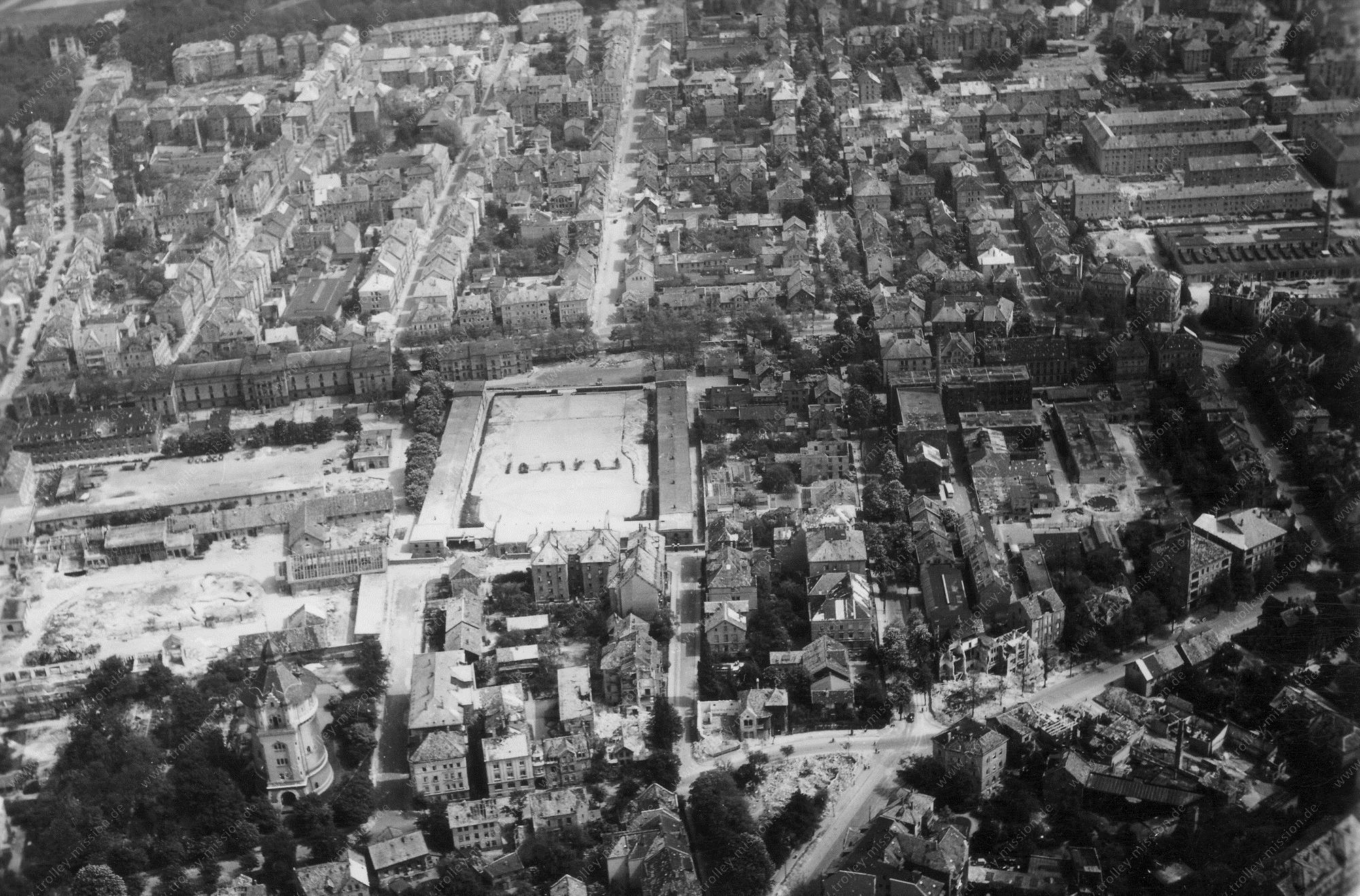 Braunschweig Luftbild Wasserturm Giersberg und Husarenkaserne