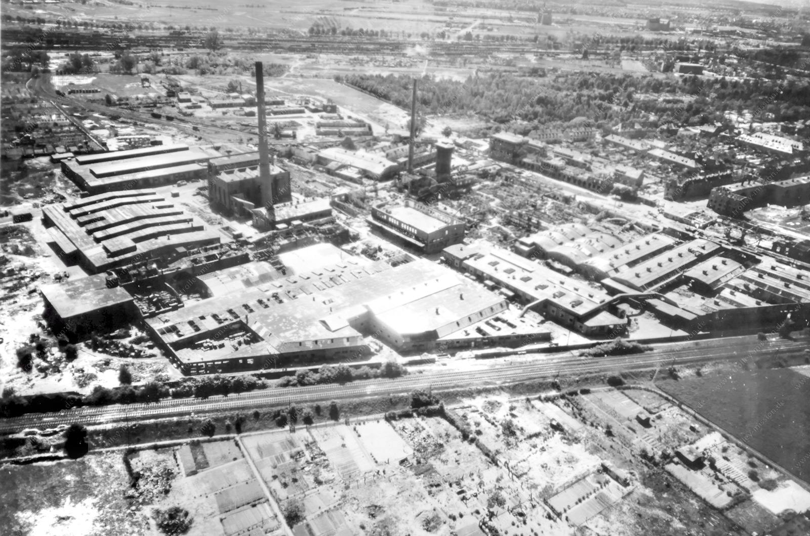 Reifenfabrik Goodyear Dunlop in Hanau - Luftaufnahme aus dem Zweiten Weltkrieg