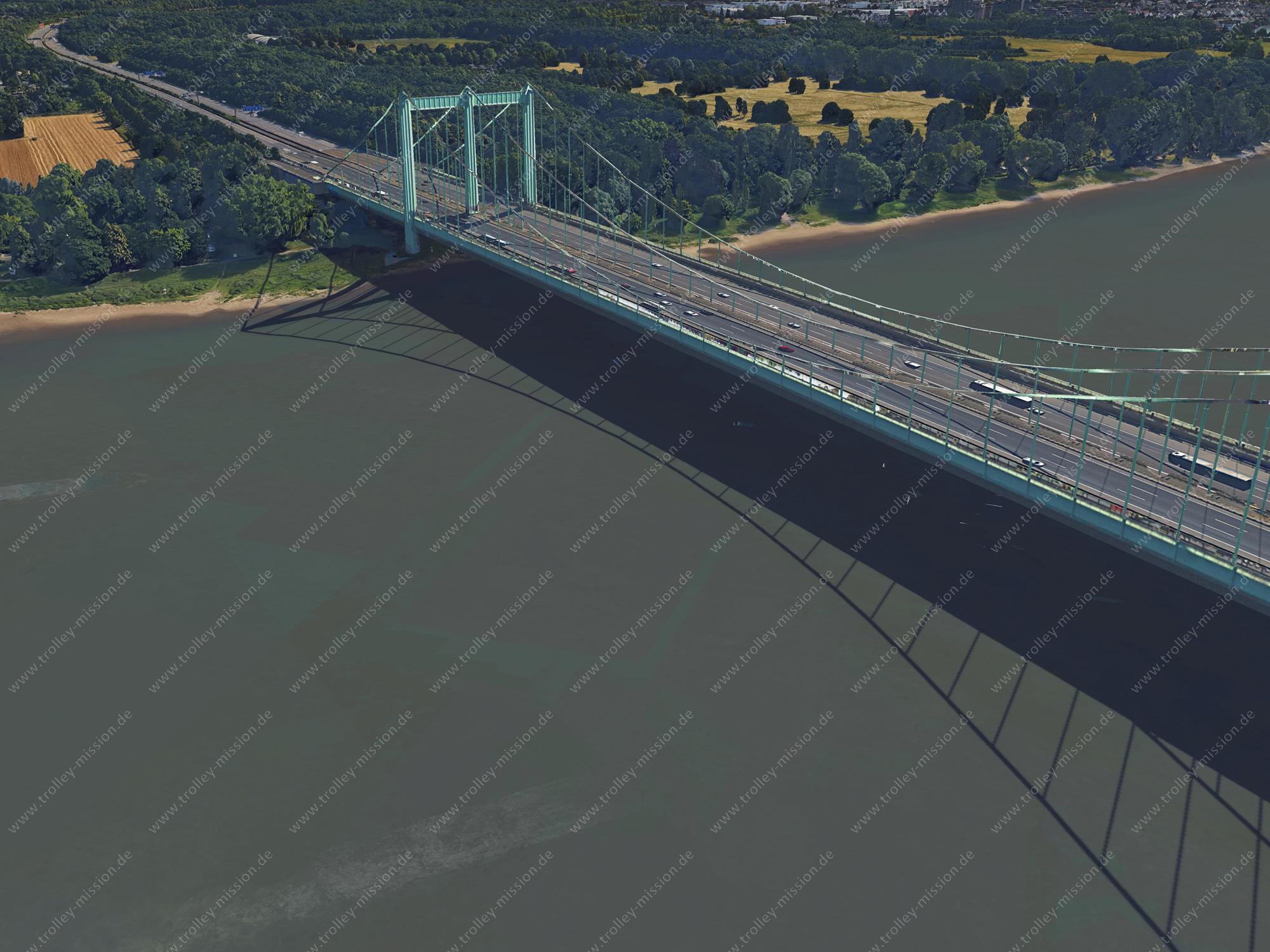 Autobahnbrücke in Köln-Rodenkirchen - Google Earth 2015