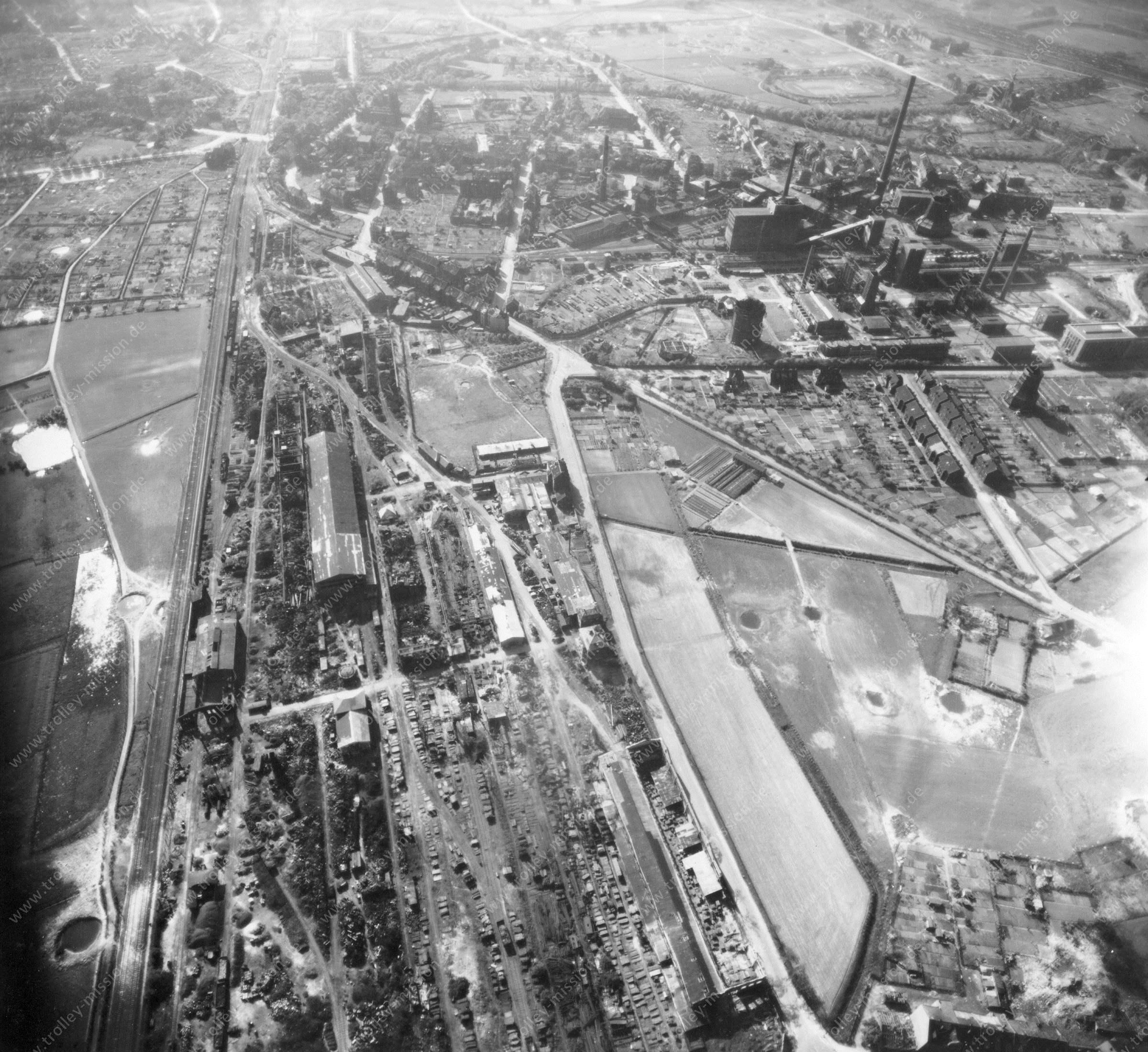 Gelsenkirchen Luftbild Zeche Consolidation im Stadtteil Bismarck