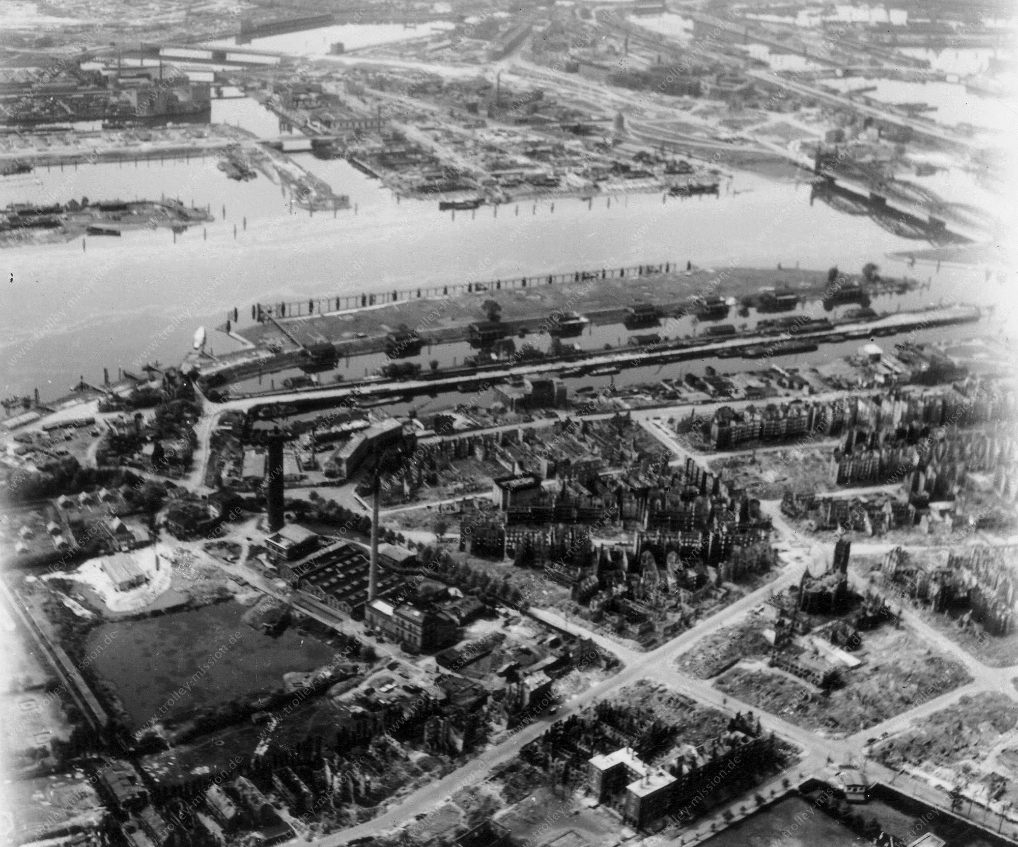 Hamburg Luftbild Rothenburgsort mit Entenwerder Zollhafen und Elbbrücken