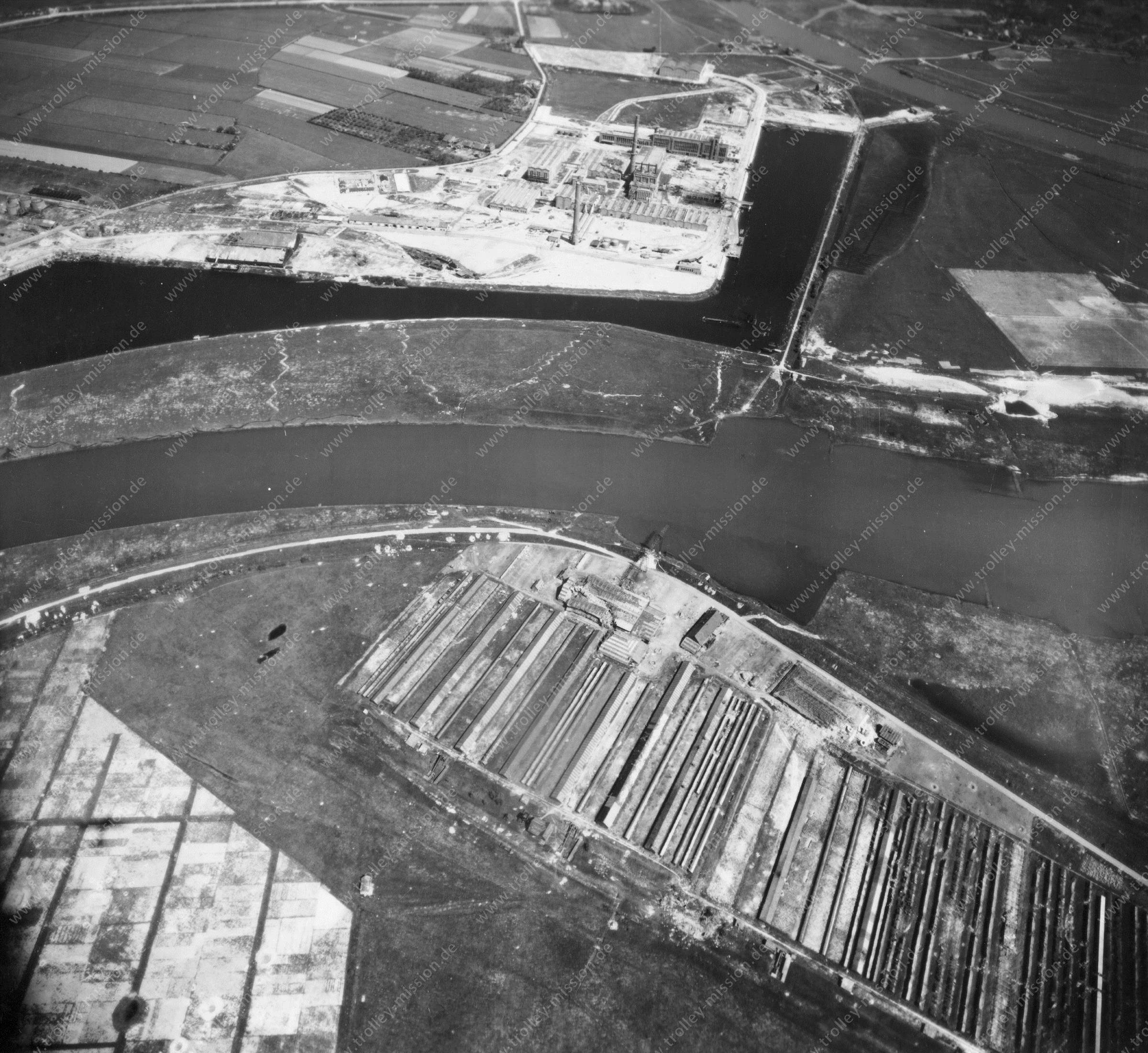 Nieuwe Haven Arnheim - Luftbild Mai 1945 - Luftbildserie 1/5 der US Air Force (Niederlande)
