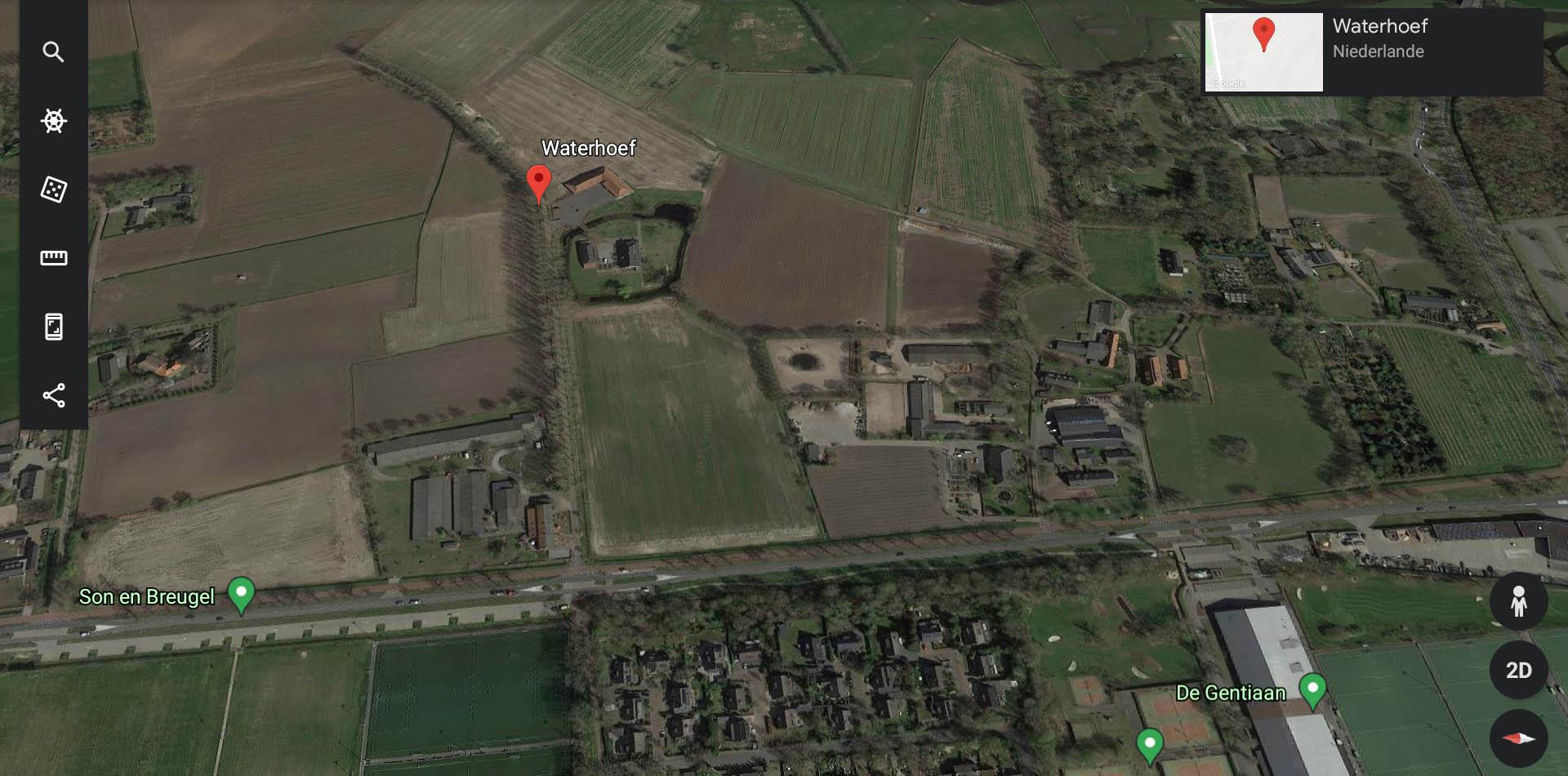 Ehemaliger Soldatenfriedhof der Operation Market Garden auf dem Gut Waterhoef in den Niederlanden