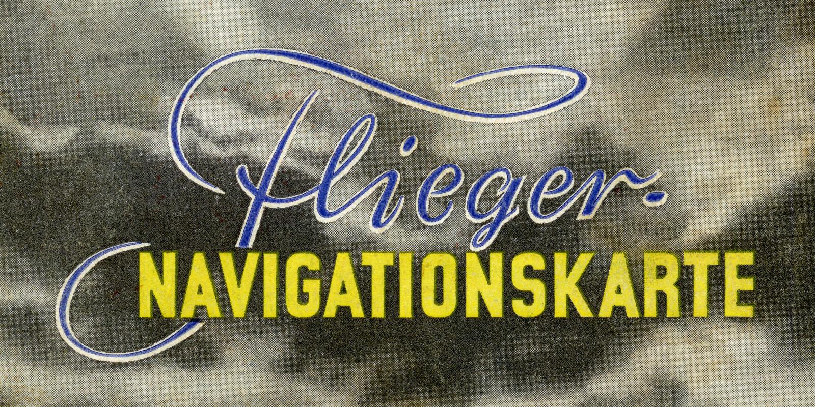OLEX Flieger-Navigationskarte von 1939 für das Deutsche Reich