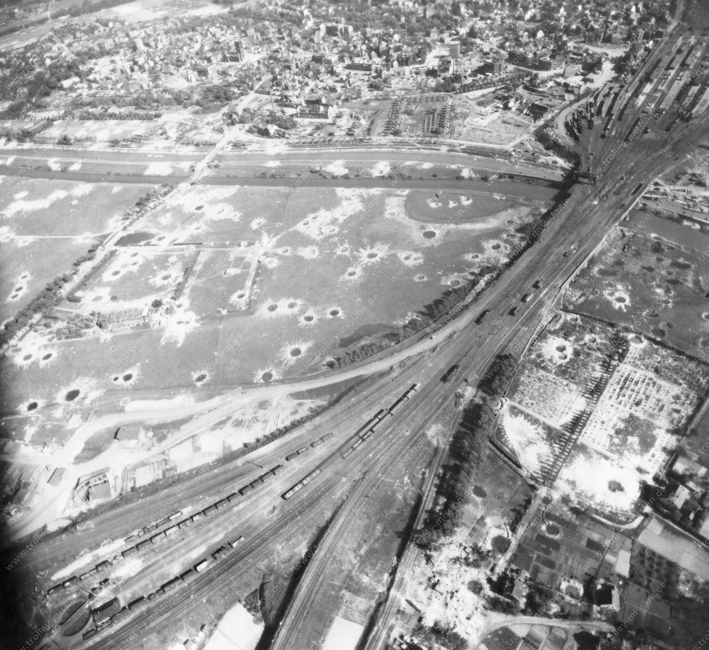 Luftbild von Hamm am 12. Mai 1945 - Luftbildserie 2/5 der US Air Force