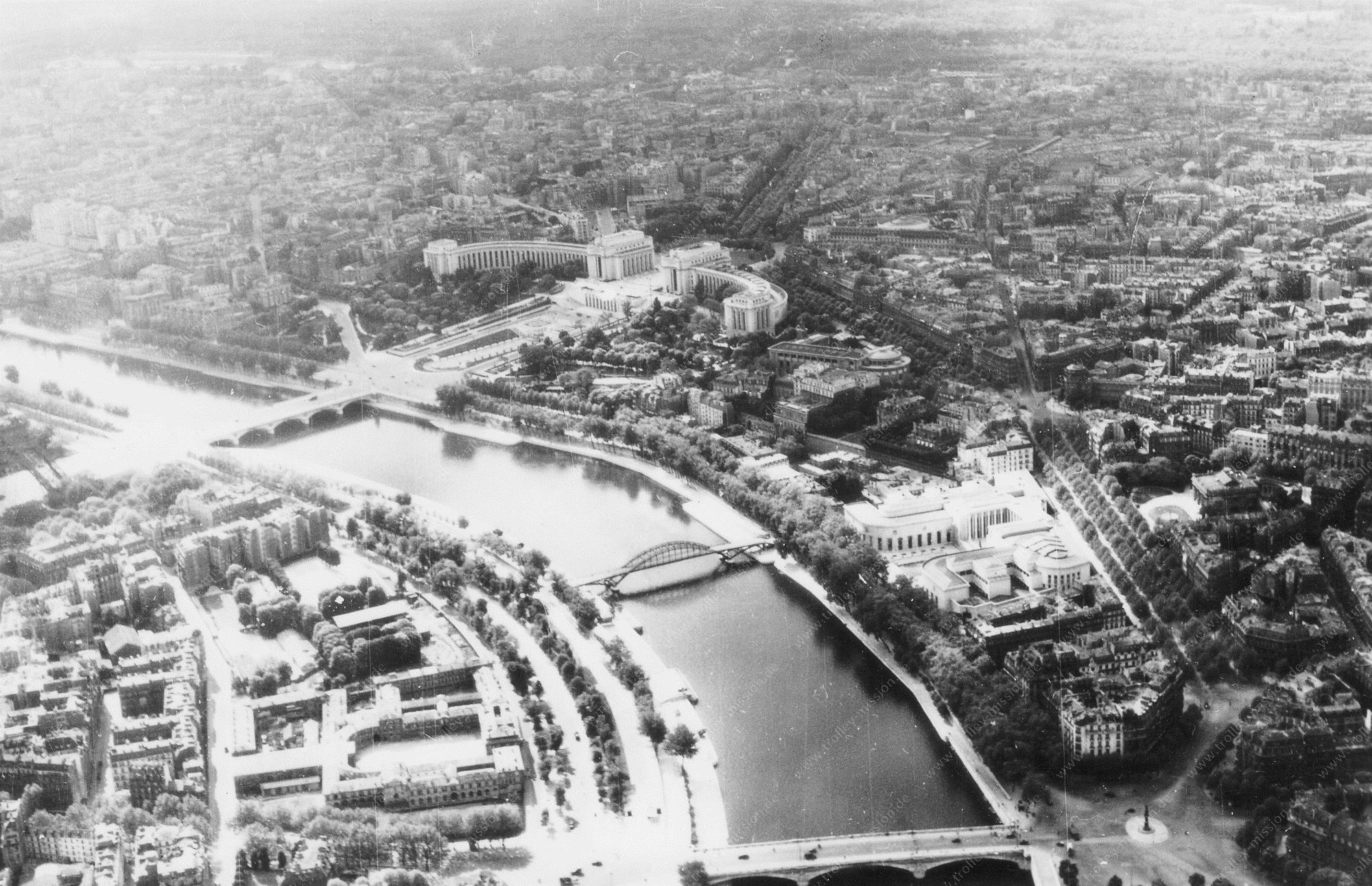 Paris 1945 Luftbild Palais de Chaillot 1/3 (Frankreich)