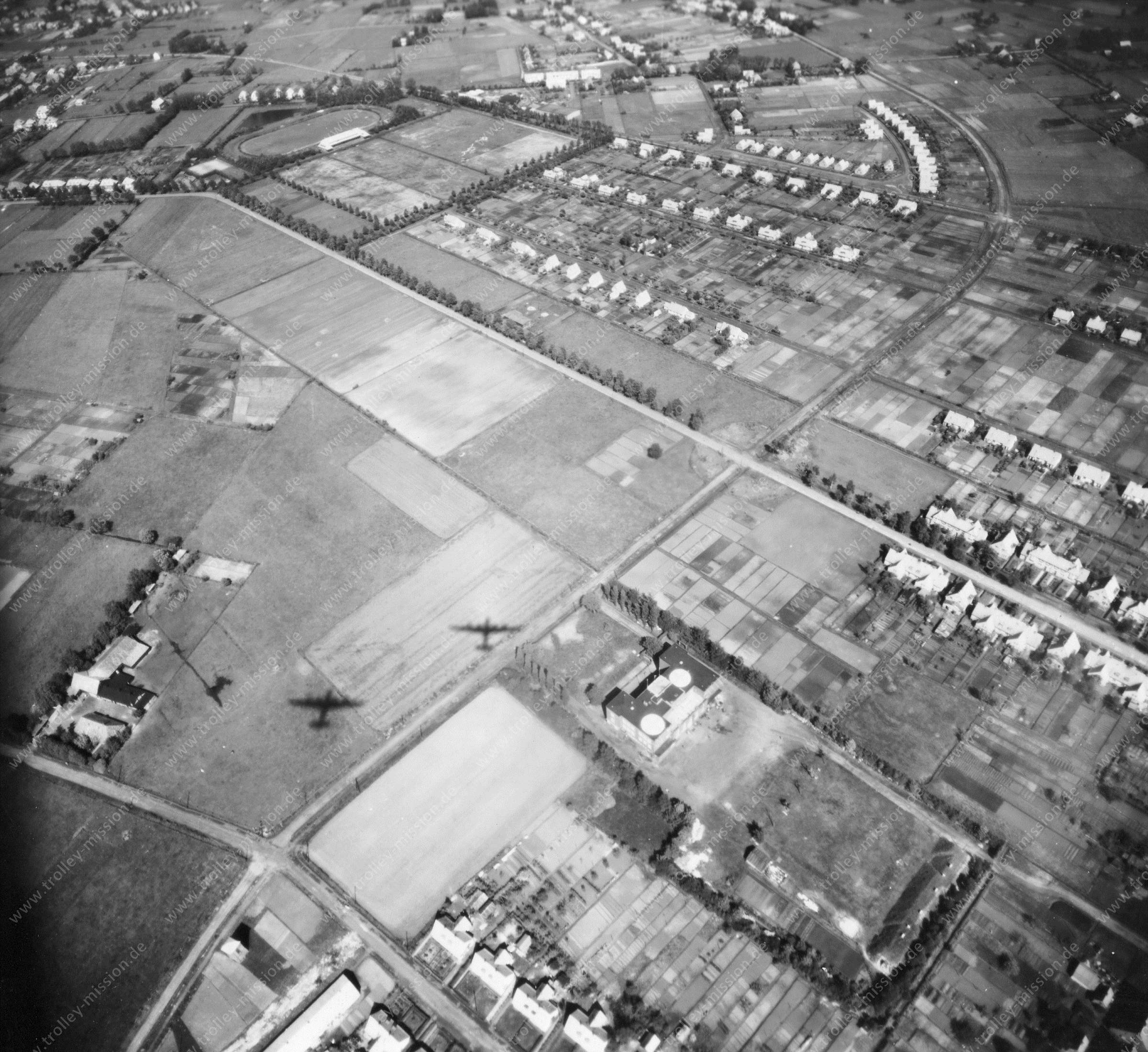 Luftbild von Bremen am 12. Mai 1945 - Luftbildserie 1/12 der US Air Force