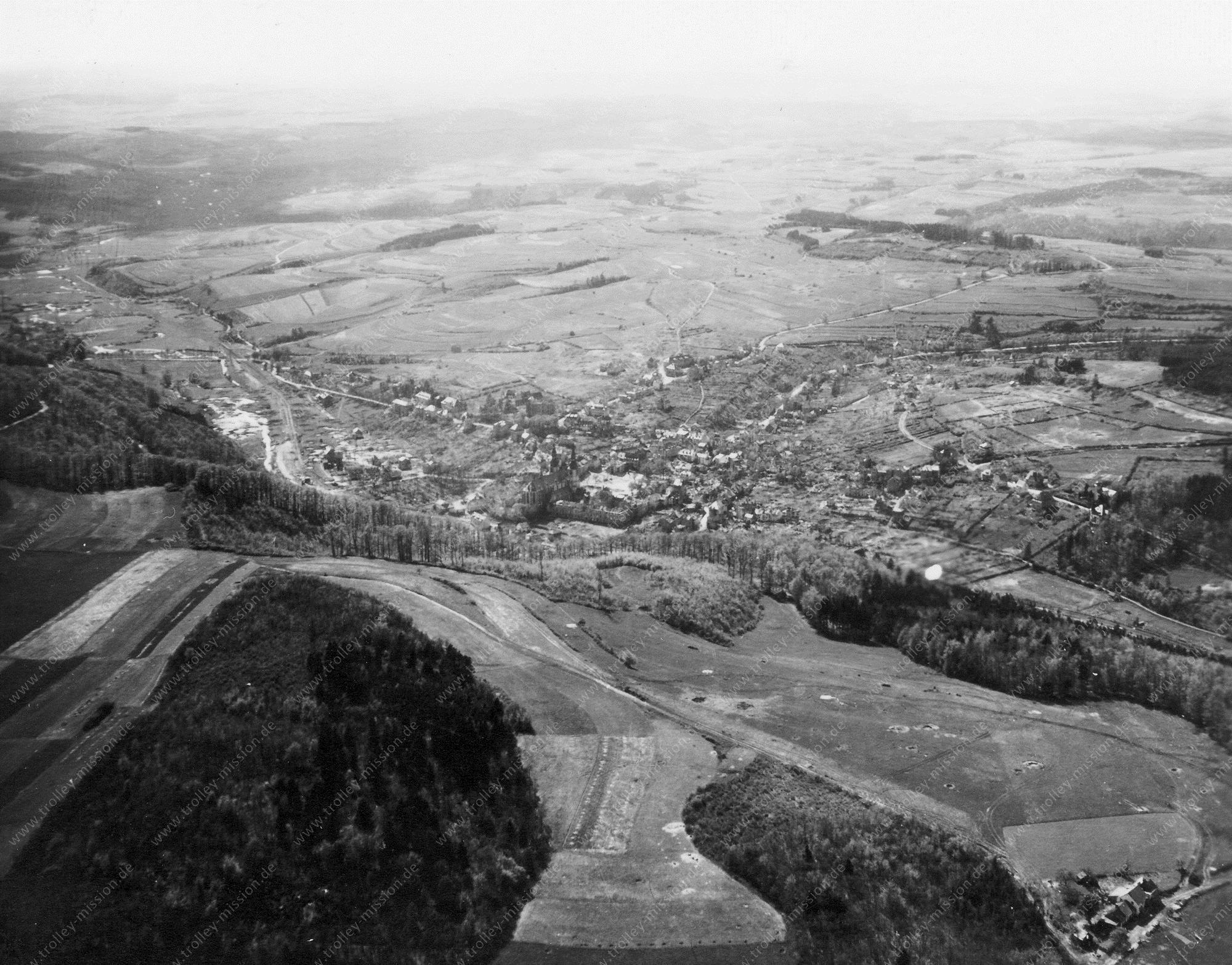 Prüm in der Eifel Luftbild Basilika Sankt Salvator