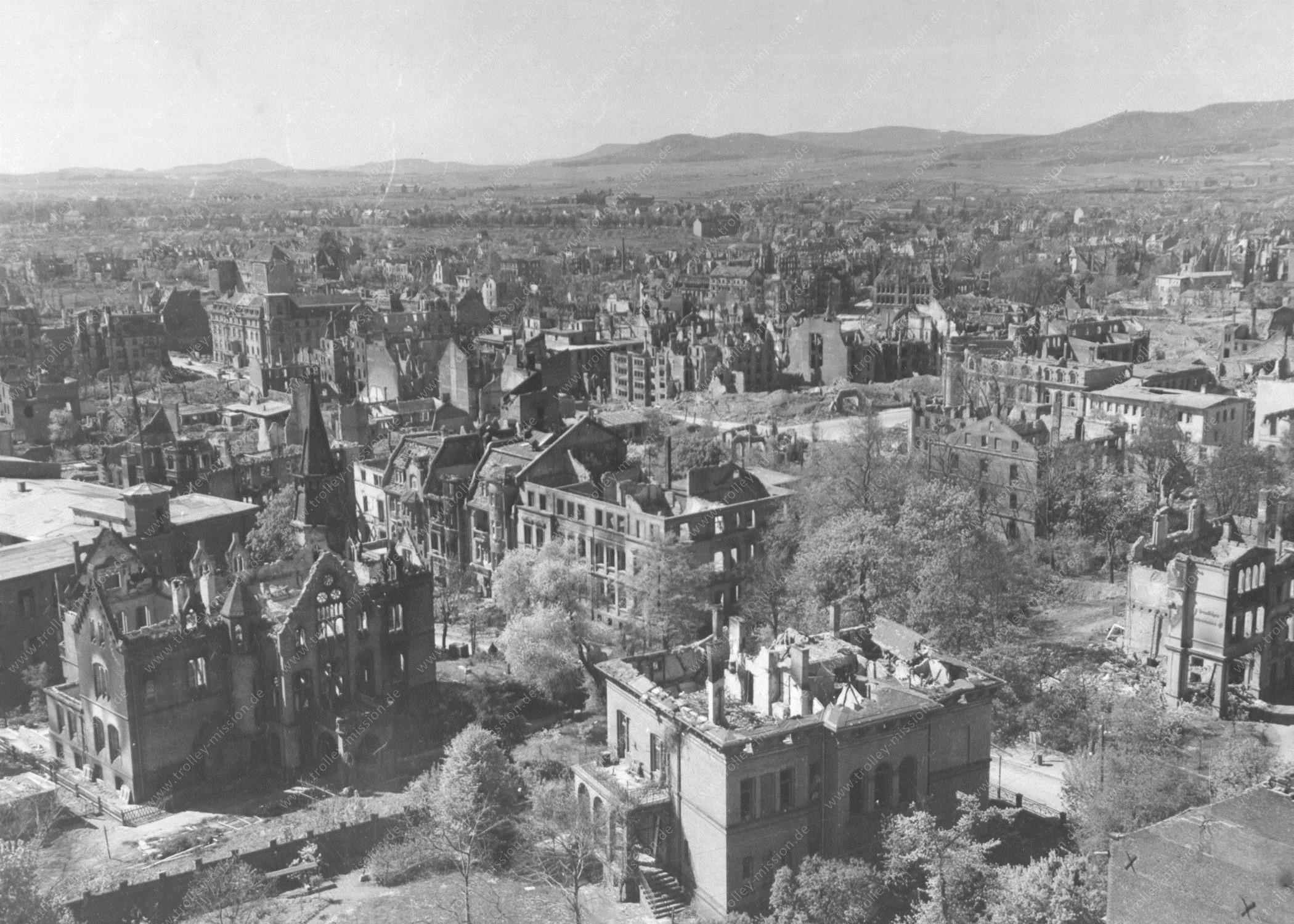 Kassel und seine im Zweiten Weltkrieg zerstörten Luxus-Villen: Glitzerburg und Villa Rothfels an der Karthäuserstraße