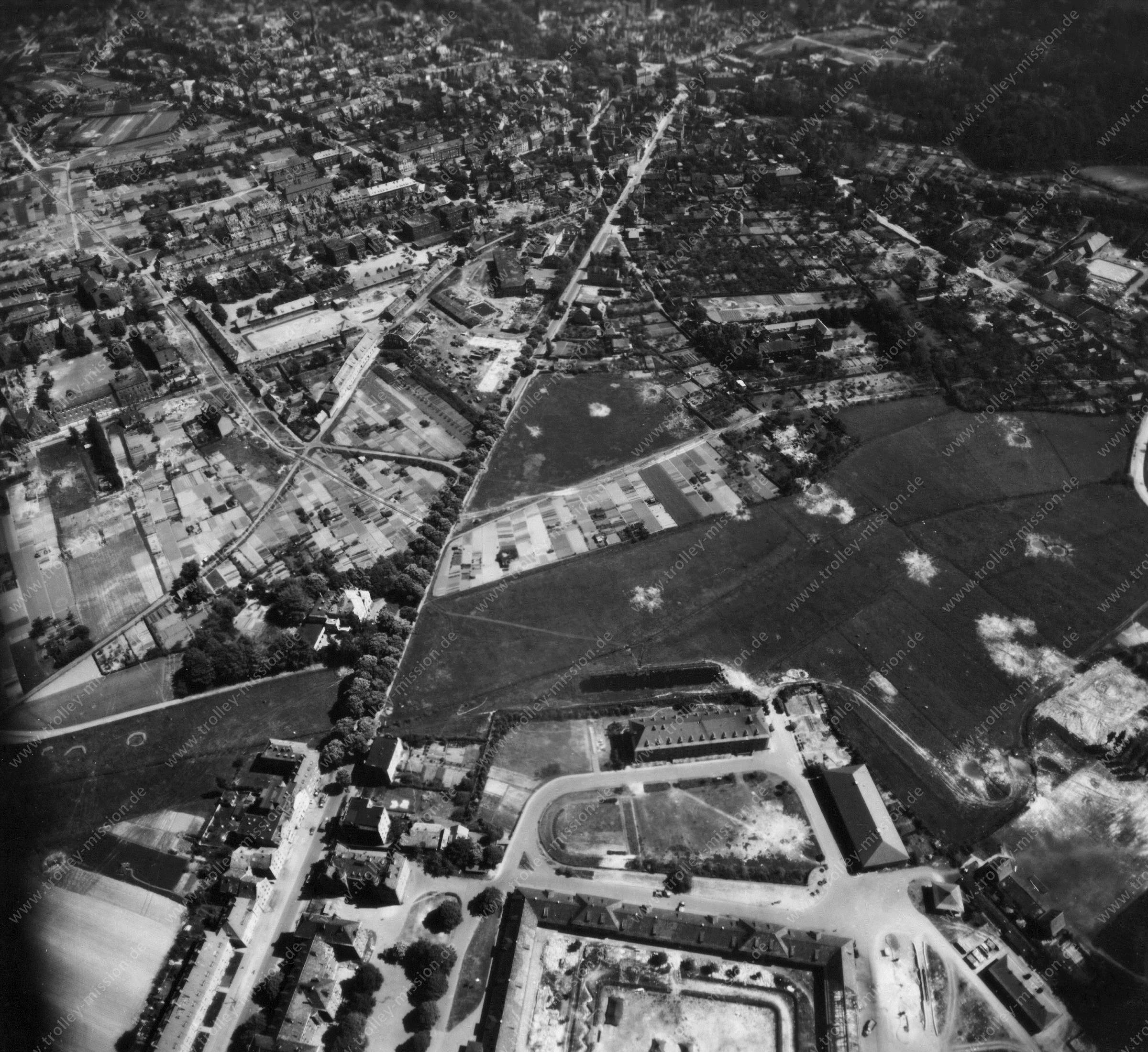 Luftbild von Münster am 12. Mai 1945 - Luftbildserie 3/11 der US Air Force