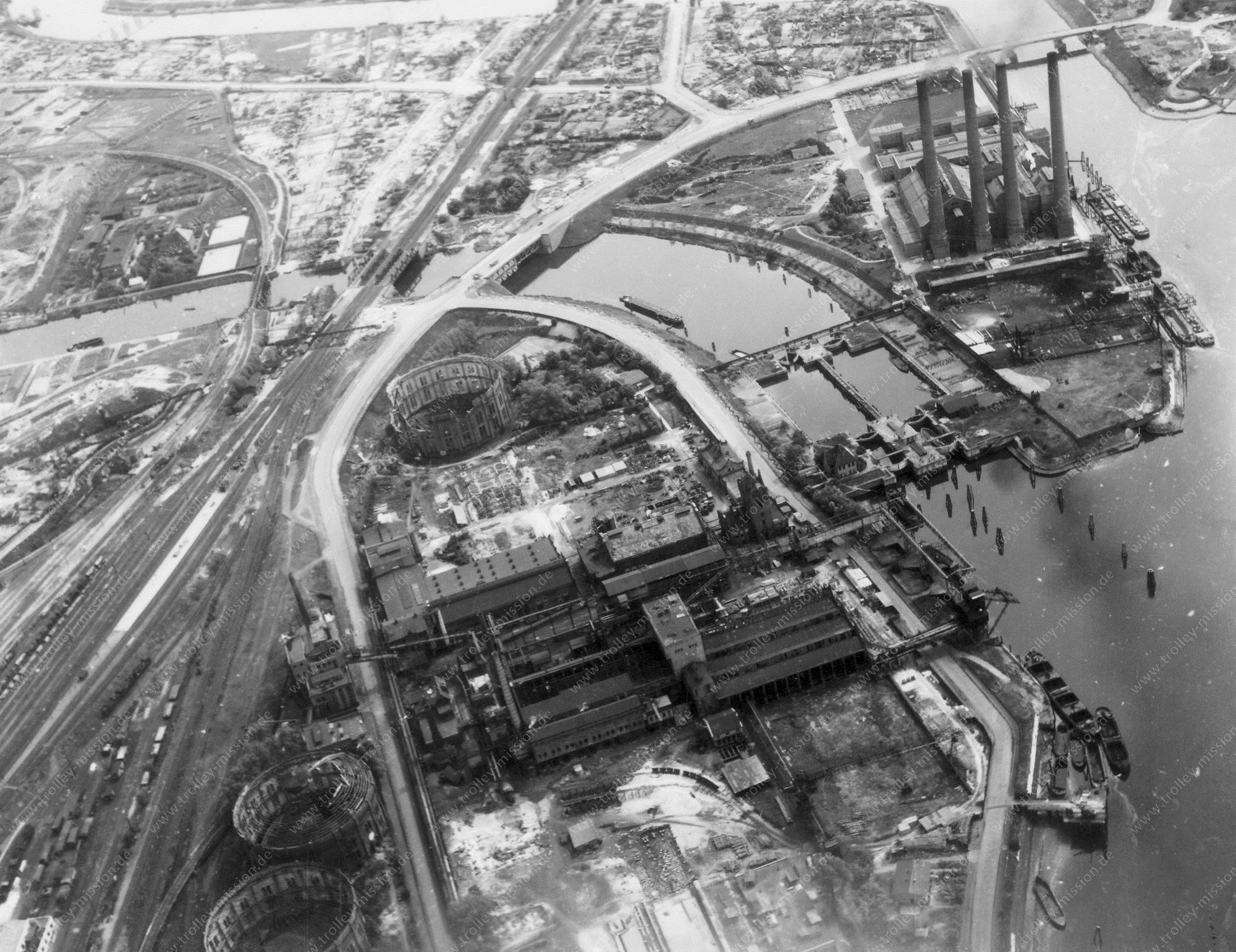 Hamburg Luftbild Heizkraftwerk Tiefstack und Billwerder Bucht