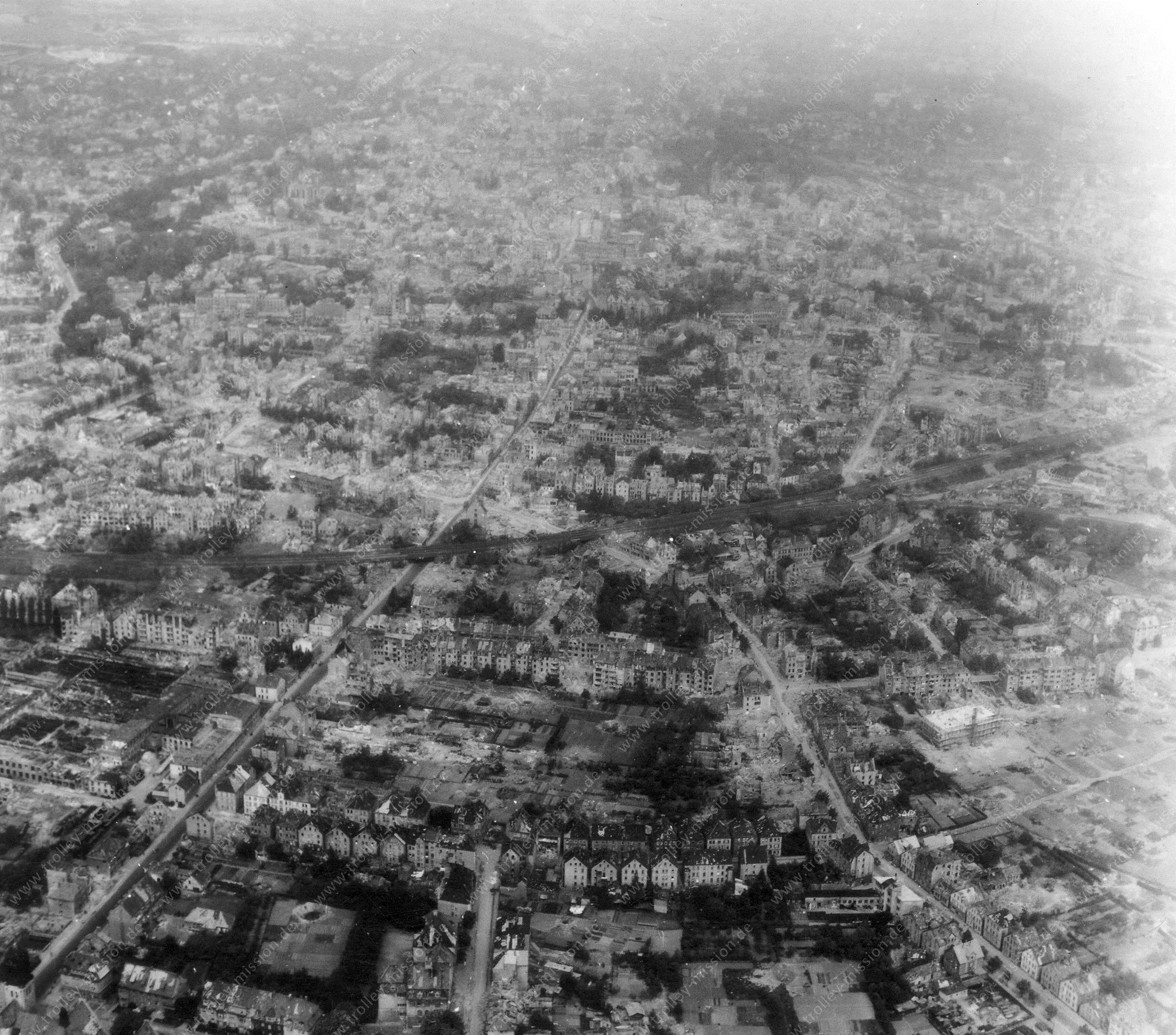 Osnabrück Luftbild aus dem Zweiten Weltkrieg