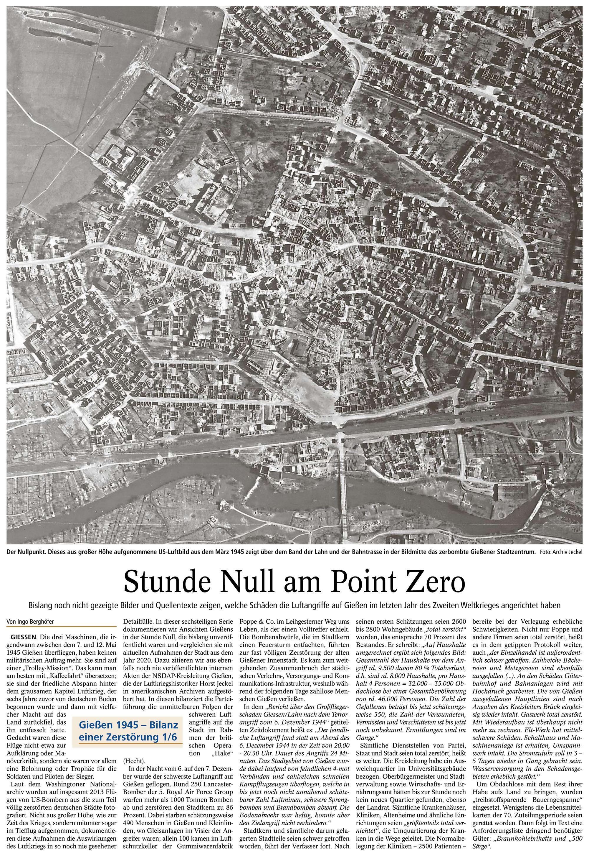 Gießener Anzeiger: Stunde Null am Point Zero