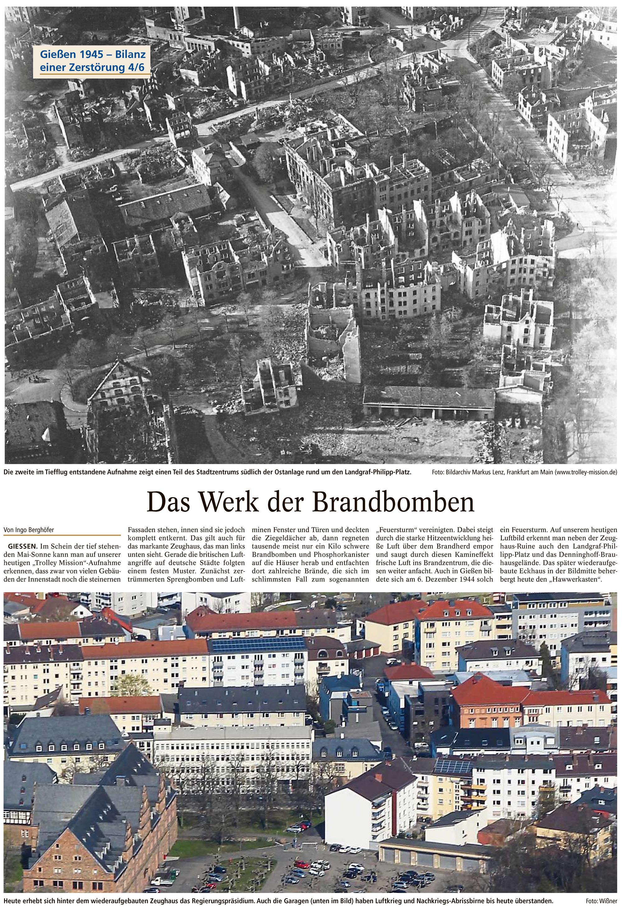 Gießener Anzeiger: Das Werk der Brandbomben