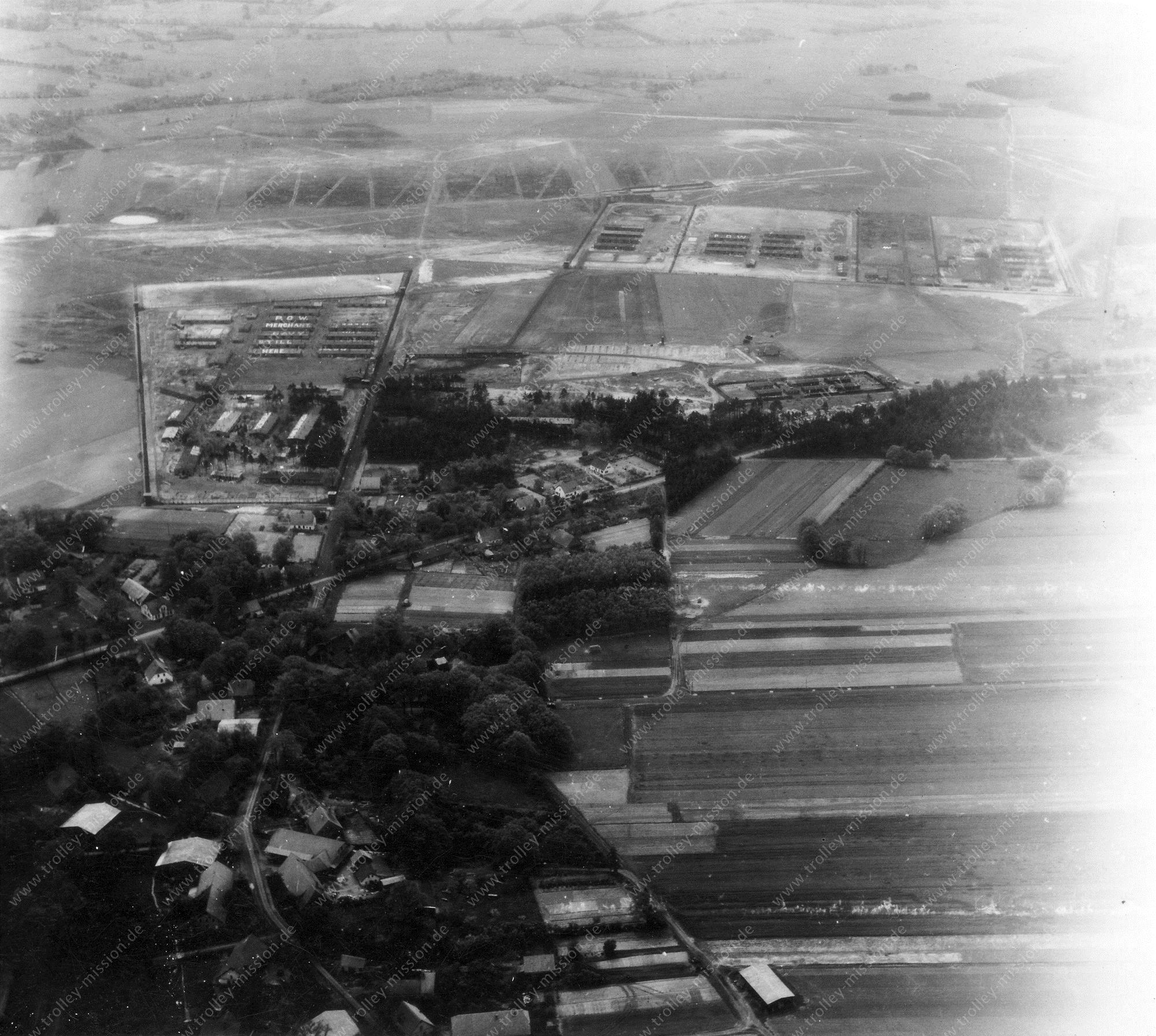 Luftbild Marinelager (MARLAG) und Marine-Internierten-Lager (MILAG) in Westertimke