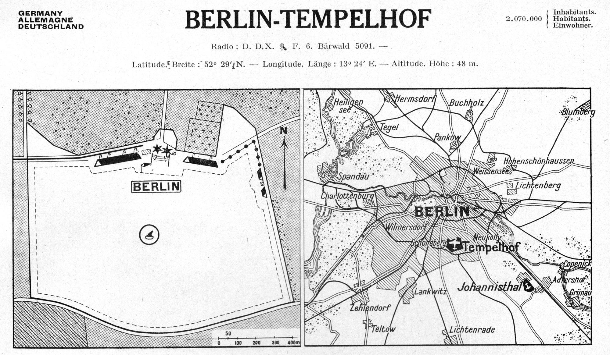 Karte Berlin-Tempelhof