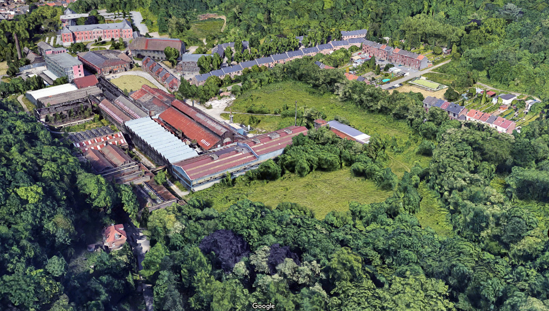 Google Maps: Glashütte Cristalleries du Val-Saint-Lambert in Seraing (Belgien)