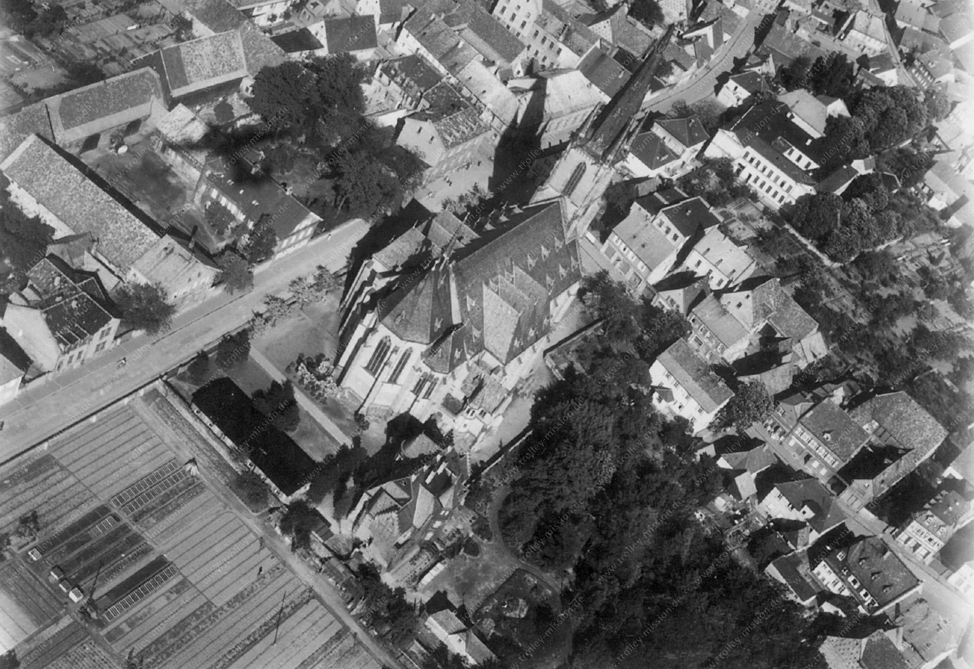 Viernheim Luftbild Apostelkirche