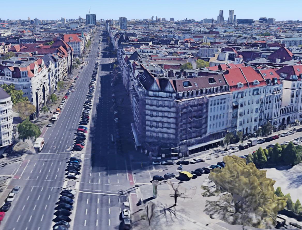 Vergleich von damals und heute: Berlin 1945 - Luftaufnahme - Kaiserdamm - Wundtstraße - Witzlebenplatz