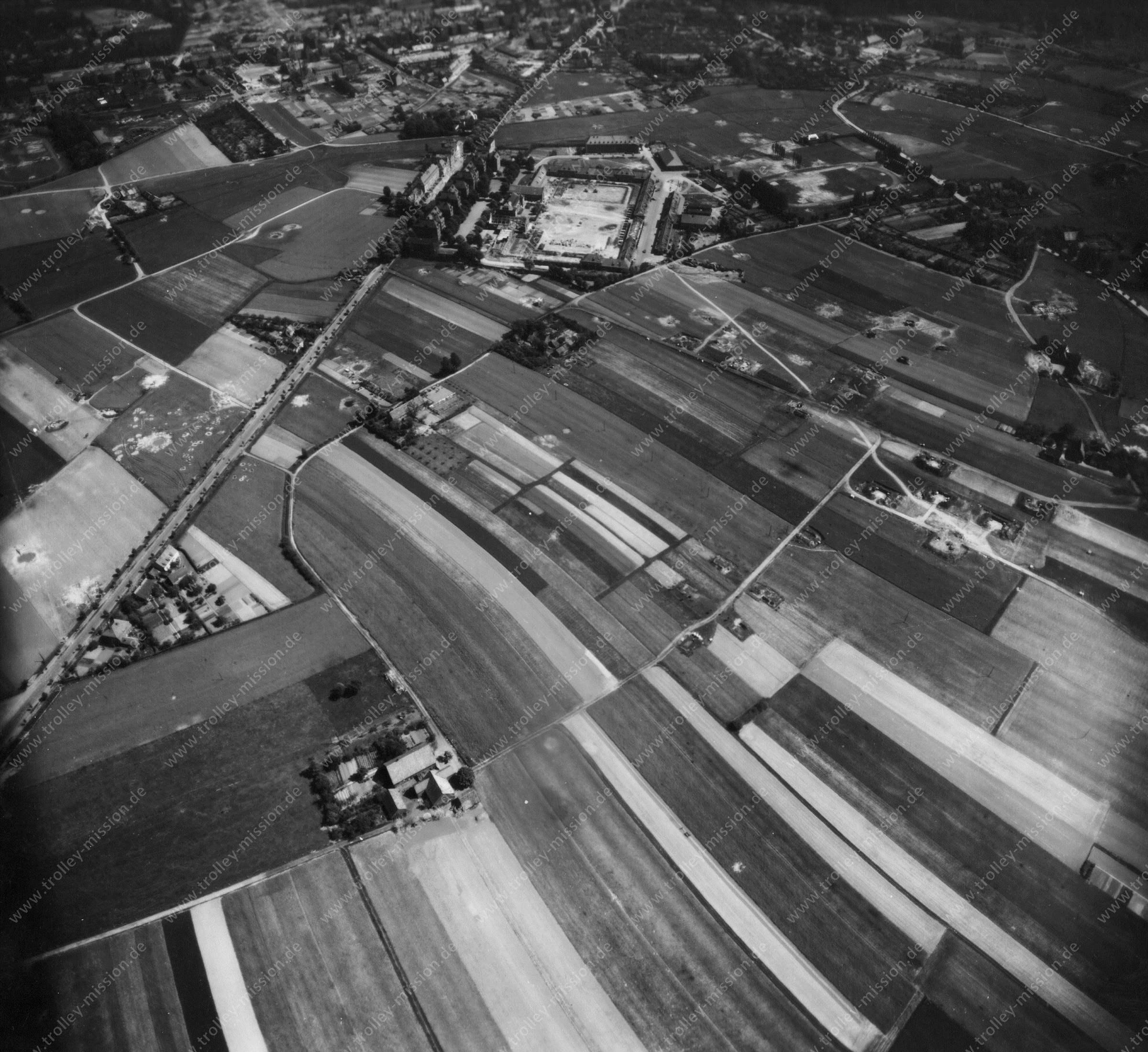 Luftbild von Münster am 12. Mai 1945 - Luftbildserie 1/11 der US Air Force