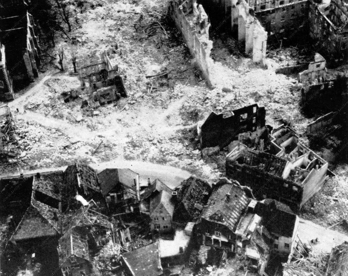 Coesfeld nach den Luftangriffen im Mai 1945