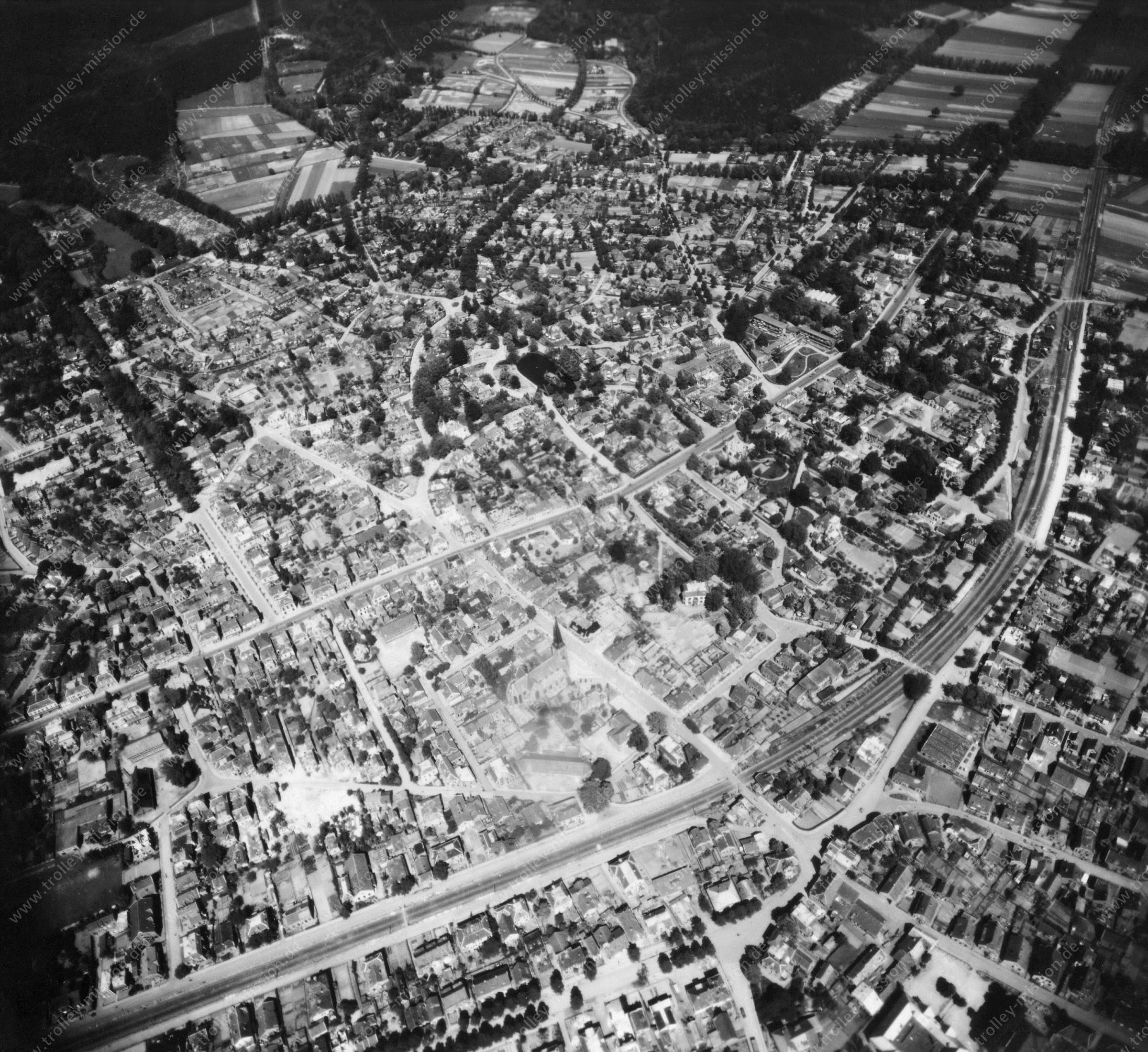 Velp - Luftbild aus dem Weltkrieg - Luftbildserie 4/5 der US Luftwaffe (Niederlande)