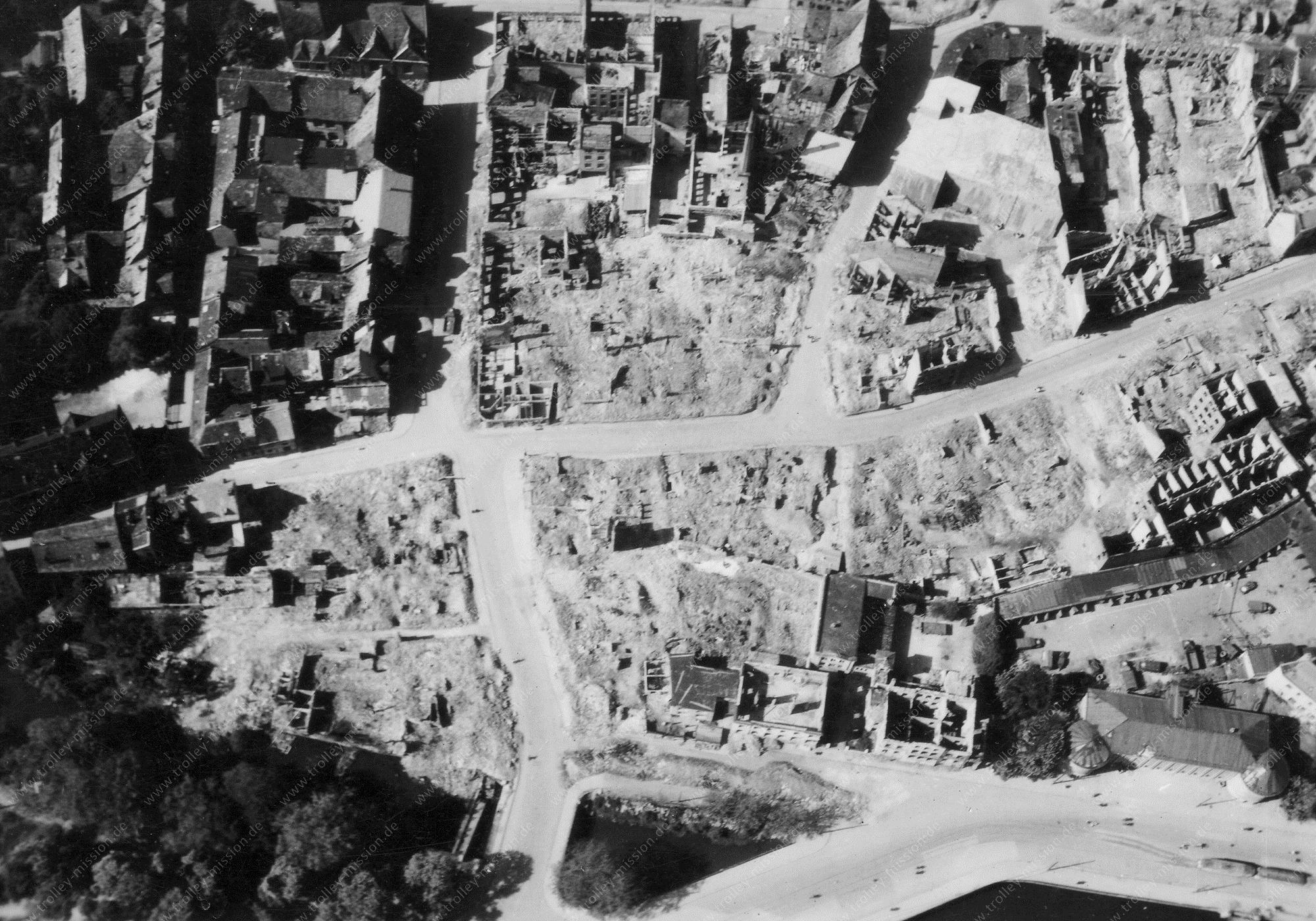Braunschweig Luftbild Echternstraße, Echternschule, Güldenstraße und Prinzenweg
