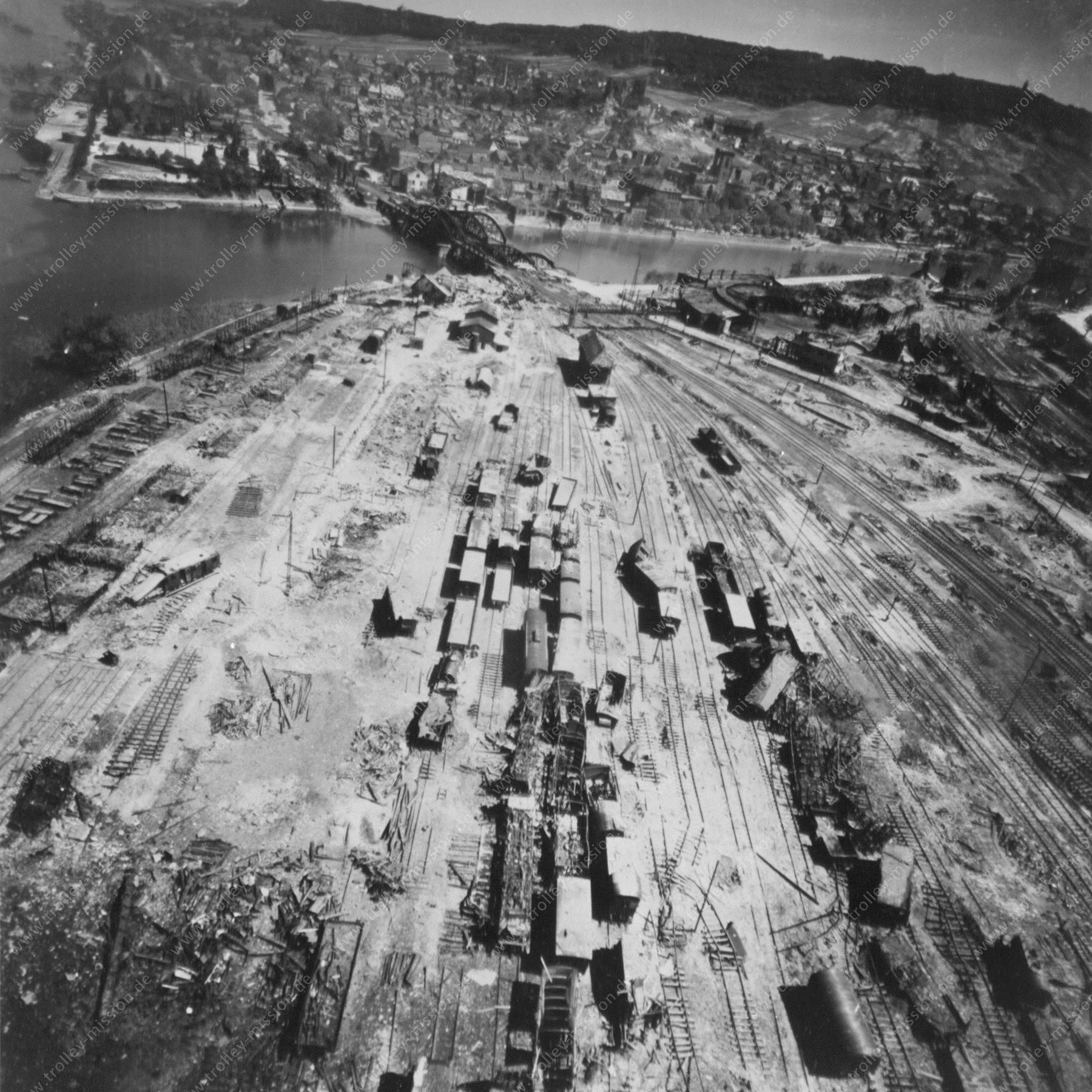 Bingen am Rhein Hauptbahnhof und Rangierbahnhof nach dem Zweiten Weltkrieg