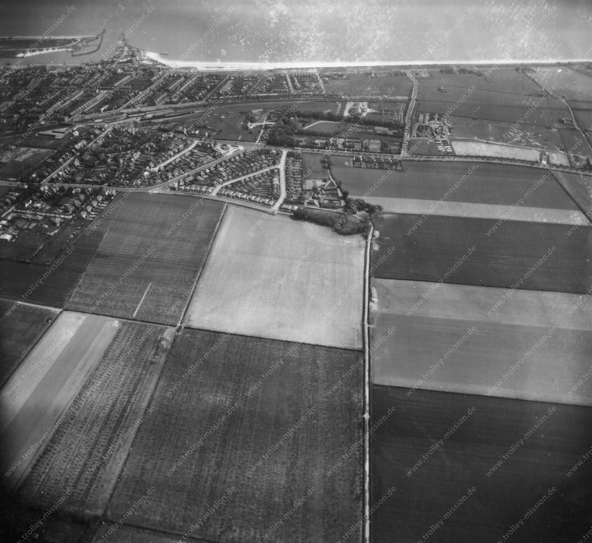 Great Yarmouth 1945 Luftbild 1/2 K-24 Aerial Surveillance Camera US Air Force (Großbritannien)