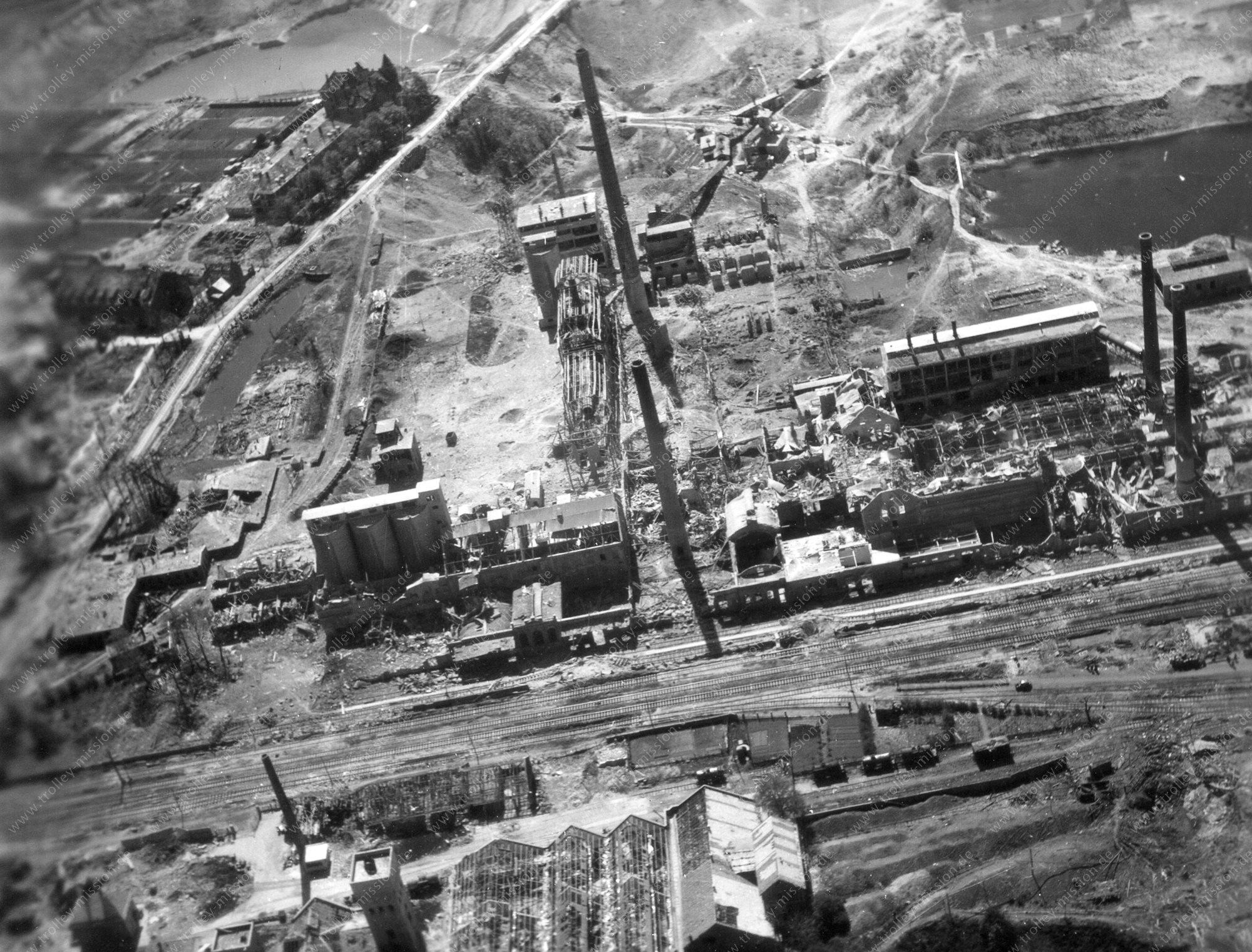 Luftbild der alten Zementfabrik in Misburg-Anderten im Stadtbezirk von Hannover