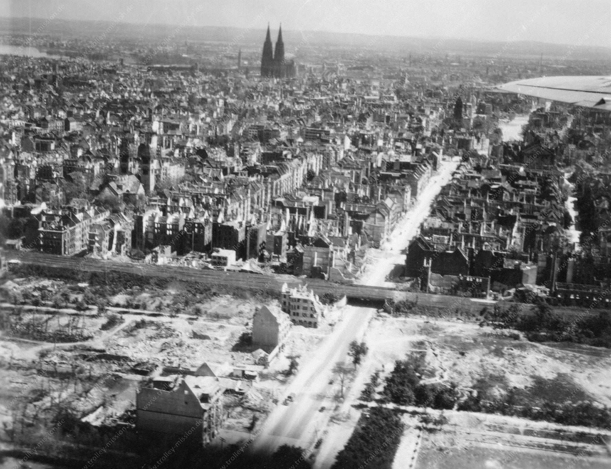 Köln Luftbild Aachener Straße und Aachener Weiher