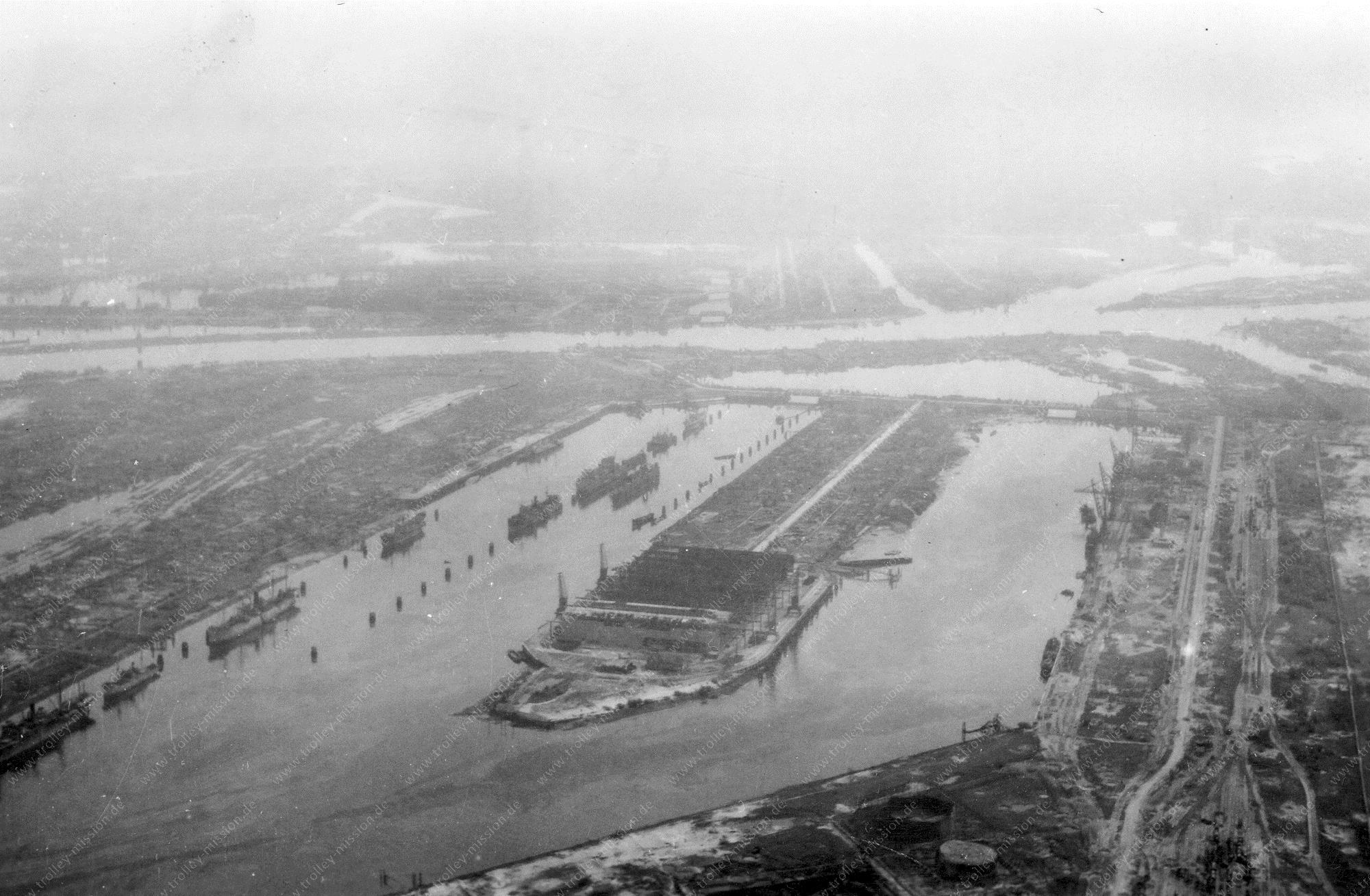 Hamburg Luftbild Waltershofer Hafen und Griesenwerder Hafen und Köhlbrand