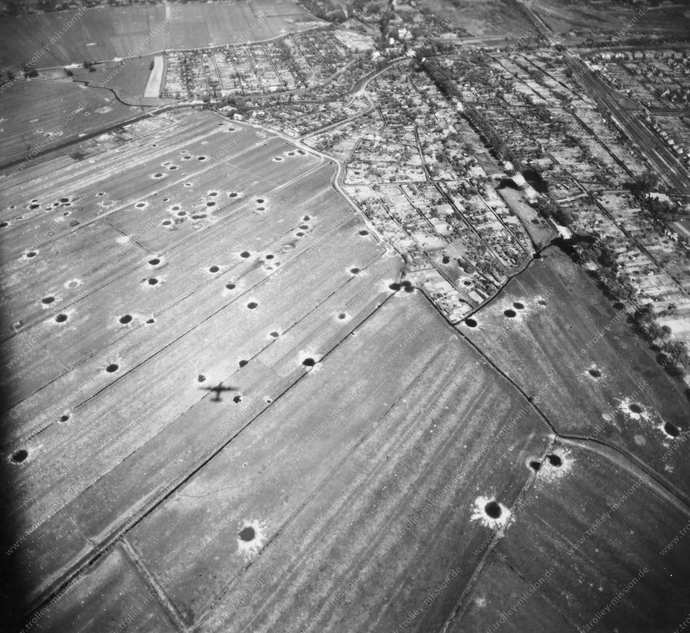 Luftbild von Bremen am 12. Mai 1945 - Luftbildserie 2/12 der US Air Force
