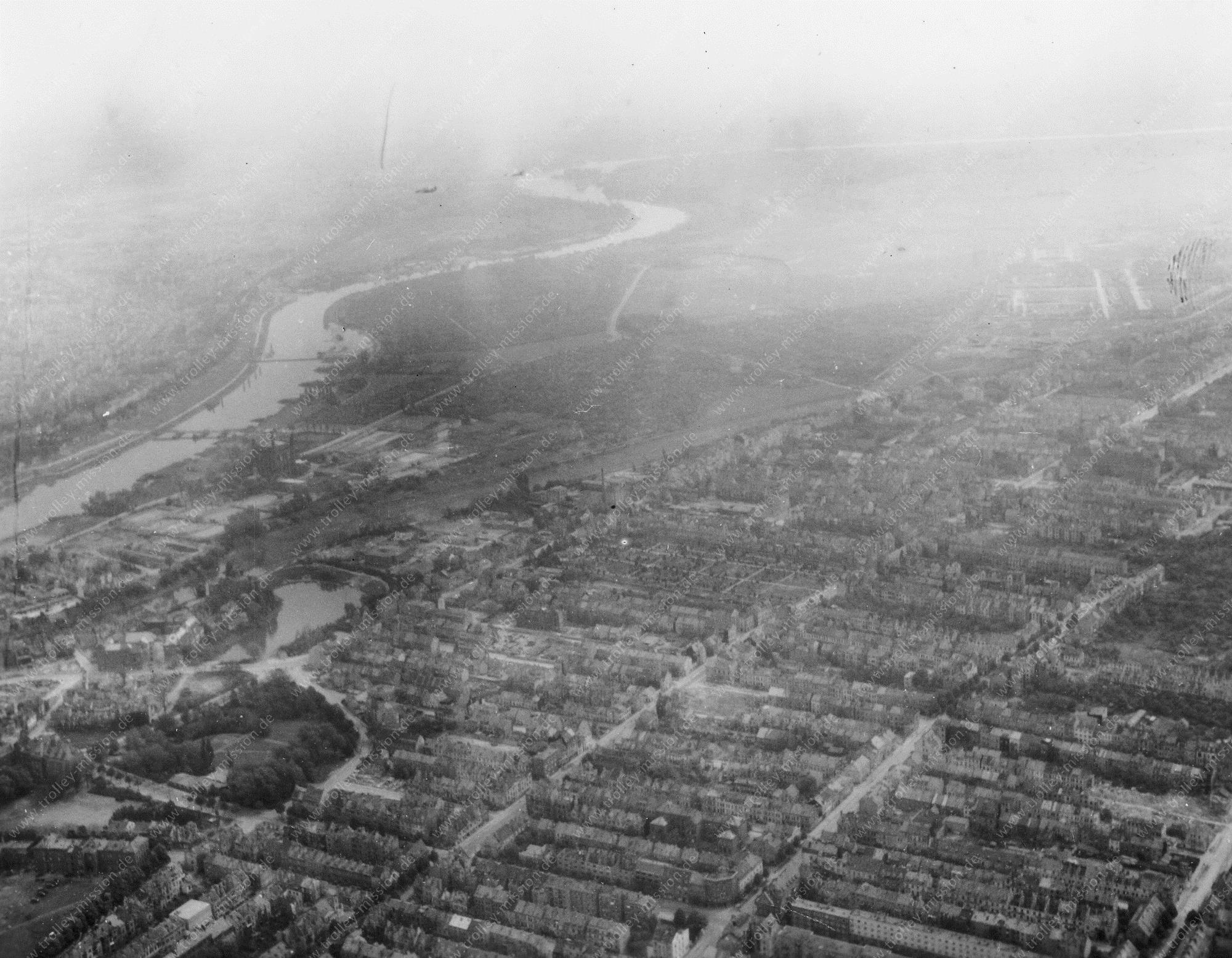 Bremen Luftbild mit Wasserturm auf dem Werder