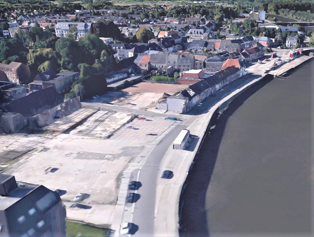 Google Earth: Stadtteil Astridwijk der Gemeinde Wetteren in Belgien