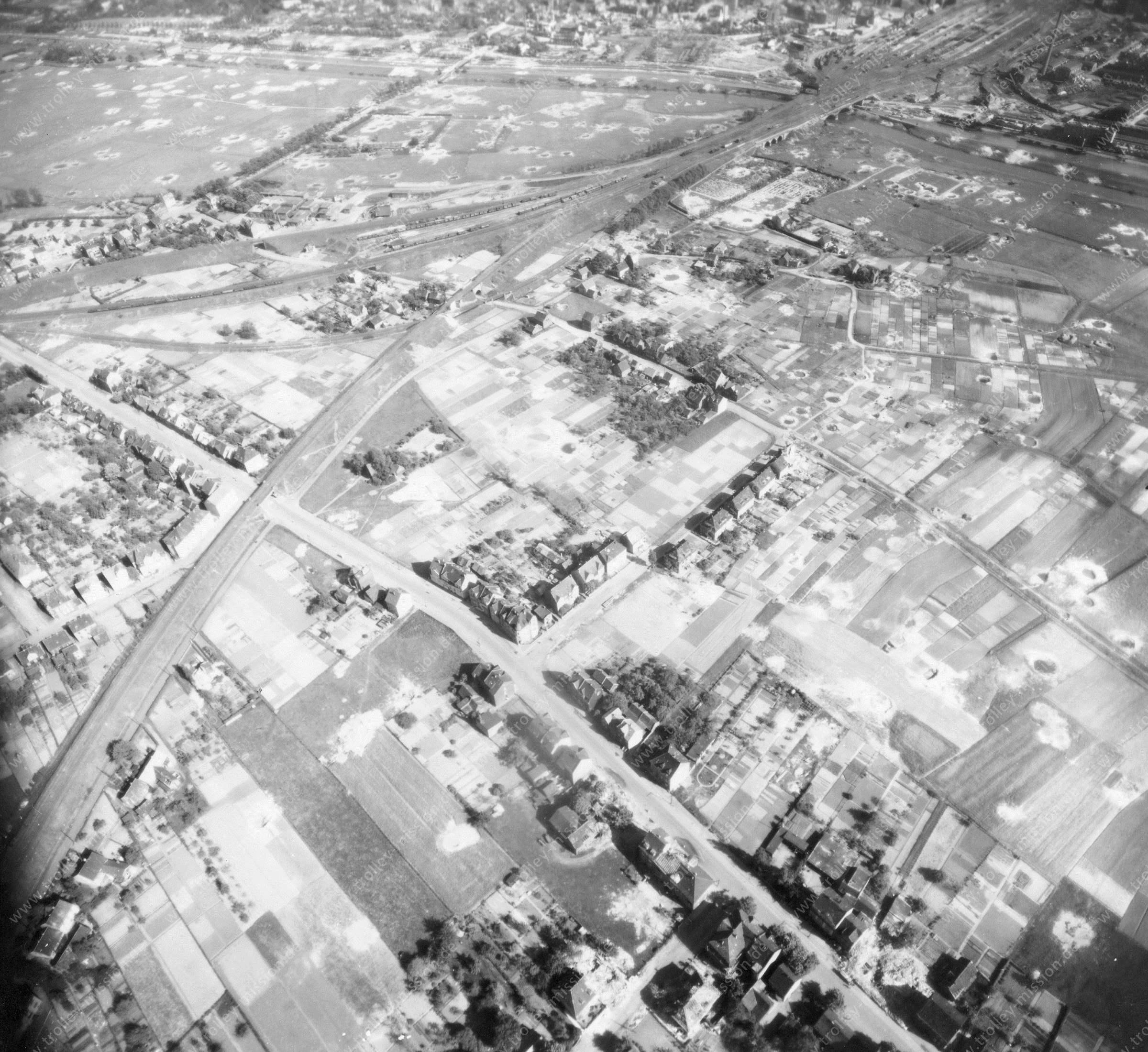 Luftbild von Hamm am 12. Mai 1945 - Luftbildserie 1/5 der US Air Force