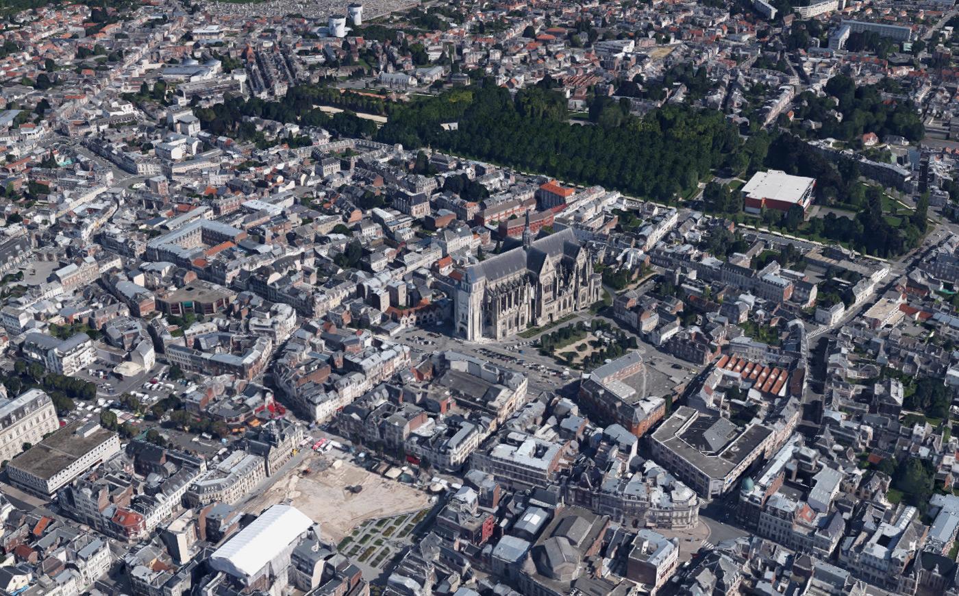 Satellitenbild von Saint-Quentin