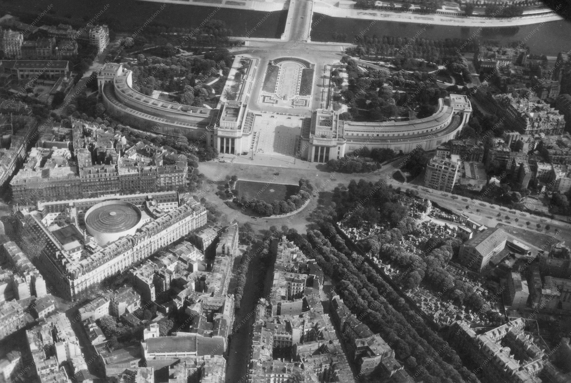 Paris 1945 Luftbild Palais de Chaillot 3/3 (Frankreich)