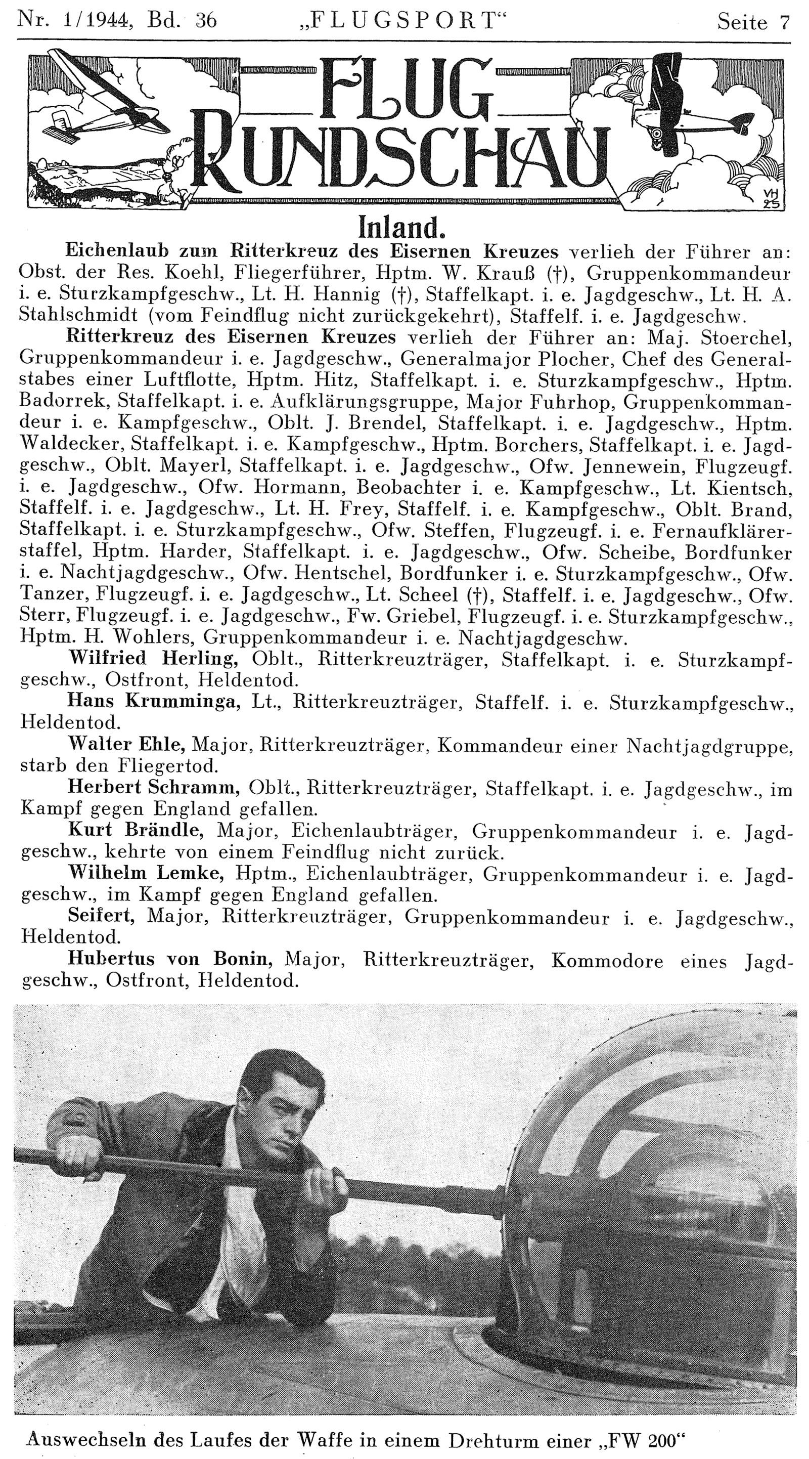 Berichte des Oberkommando der Wehrmacht (OKW)