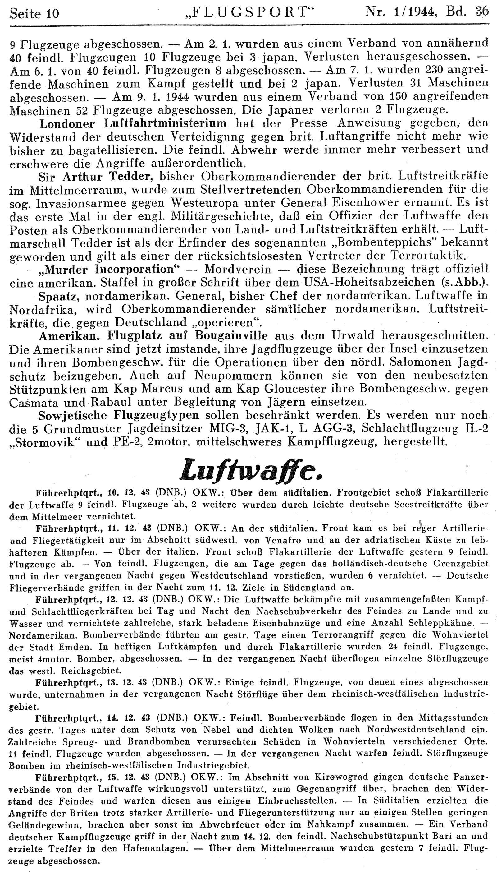 Berichte des Oberkommando der Luftwaffe (OKL)