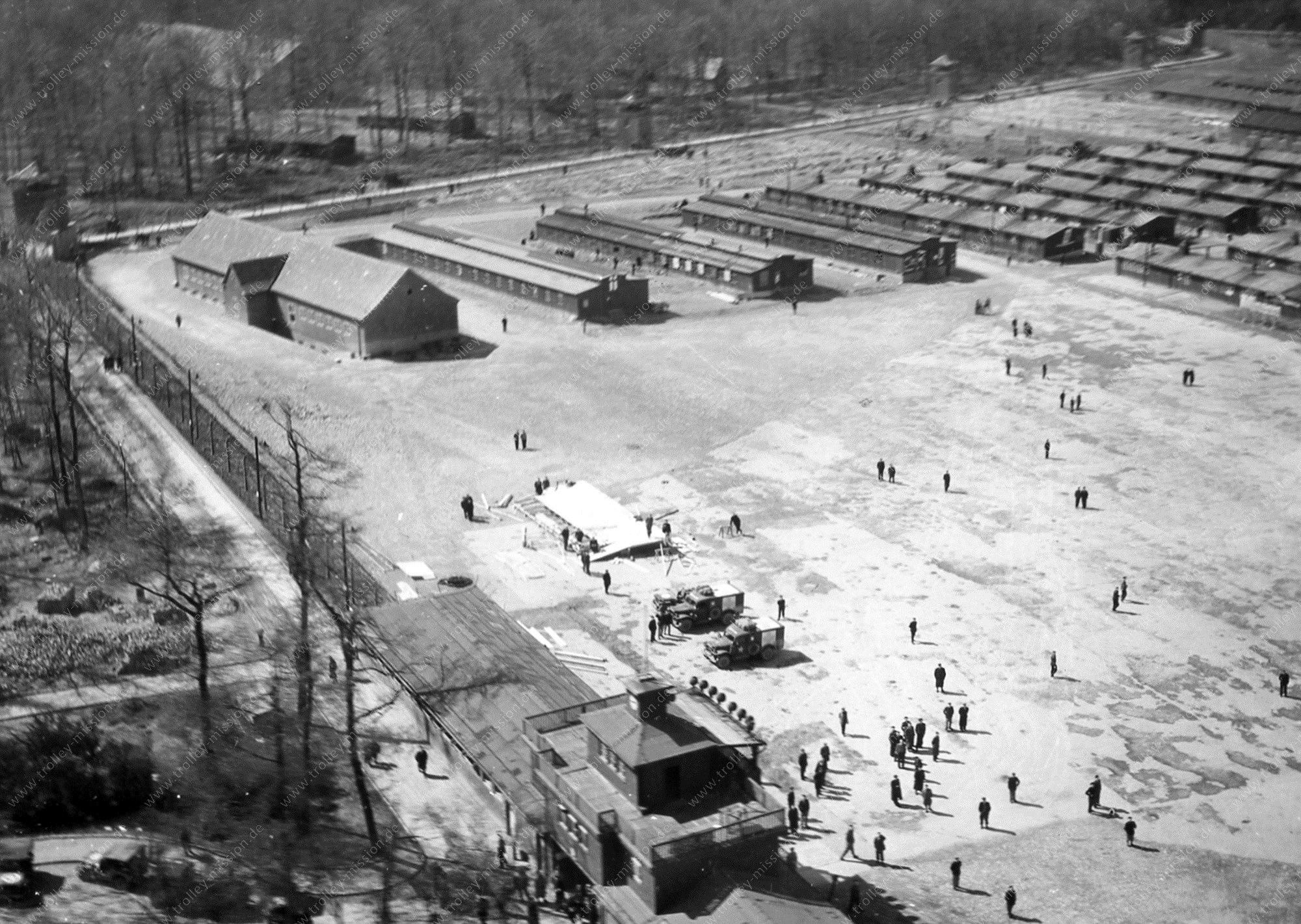 Luftbild Konzentrationslager Buchenwald nach der Befreiung